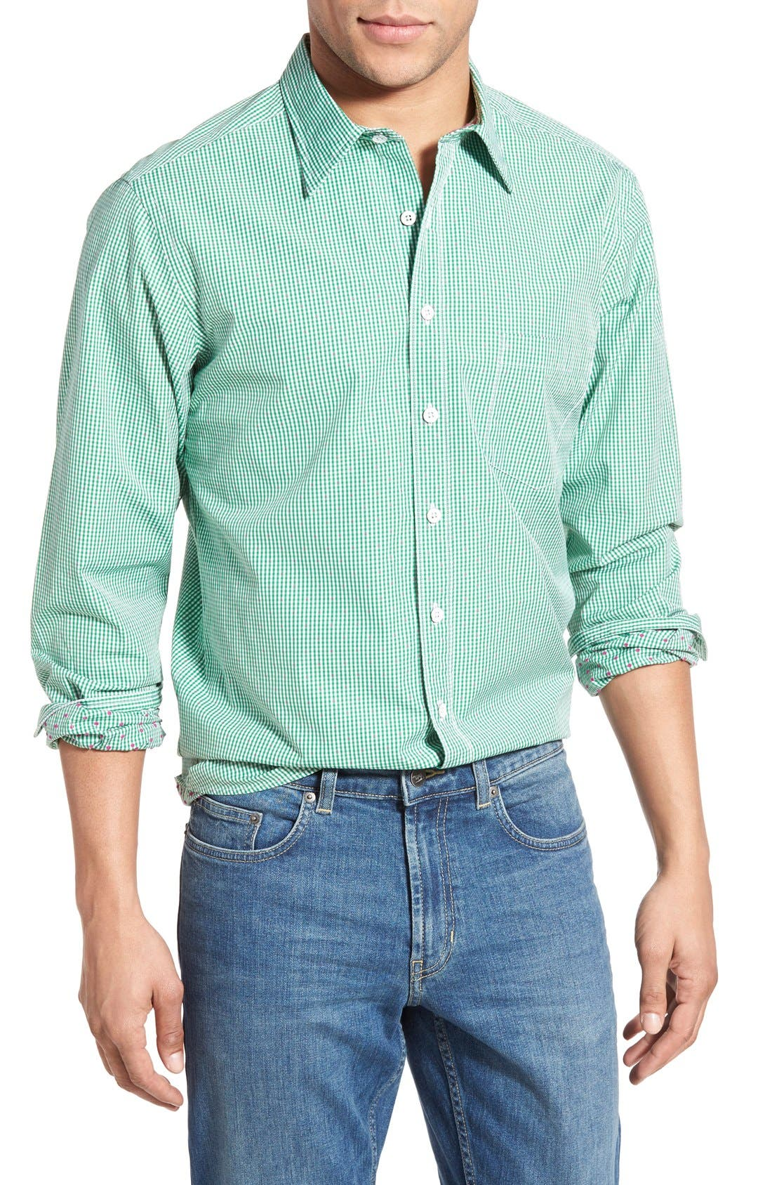 'Freeman' Sports Fit Check Sport Shirt,                             Main thumbnail 1, color,                             334