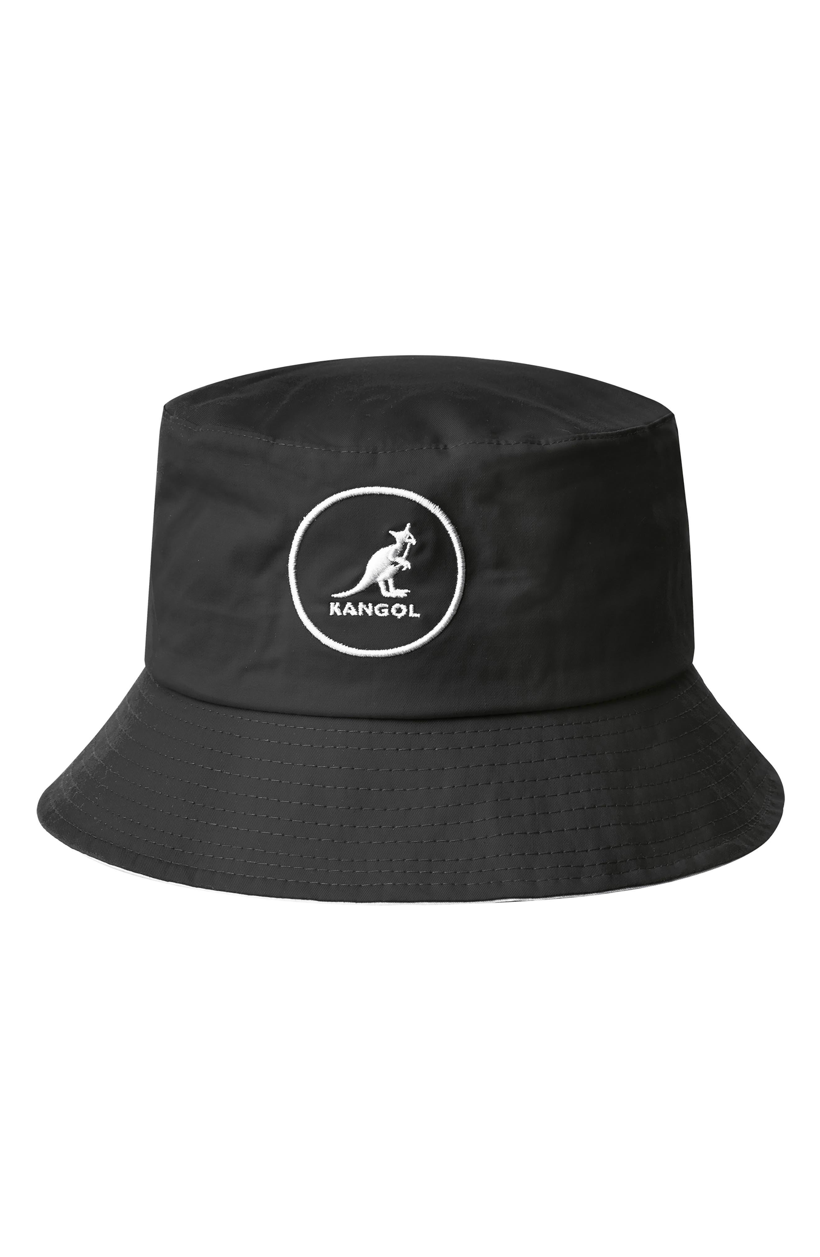 KANGOL Cotton Bucket Hat - Black