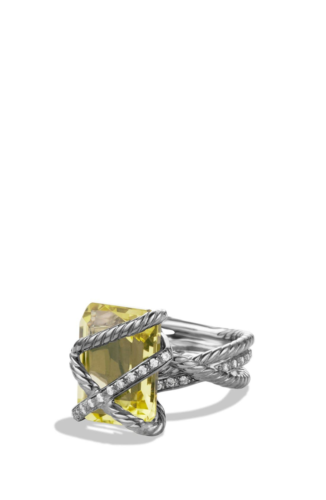 'Cable Wrap' Ring with Lemon Citrine and Diamonds,                             Main thumbnail 1, color,                             720