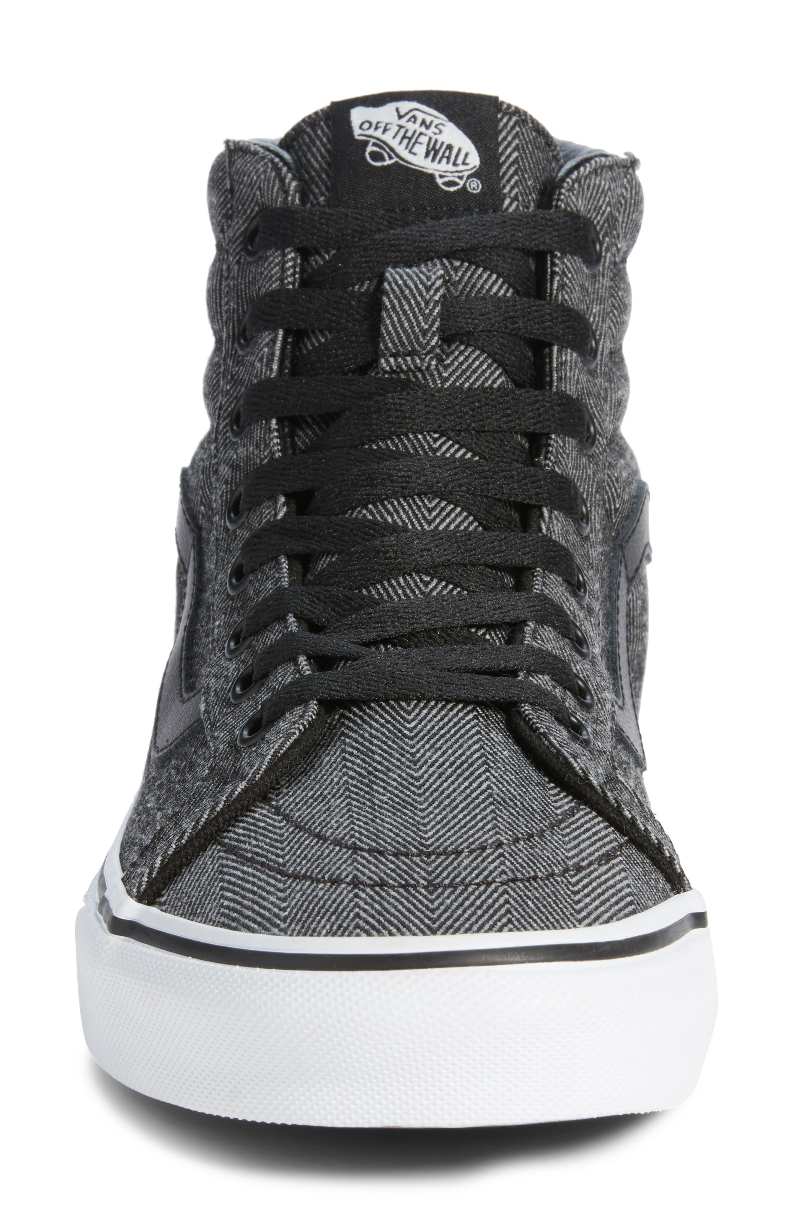 SK8-Hi Reissue High Top Sneaker,                             Alternate thumbnail 4, color,                             BLACK/ TRUE WHITE