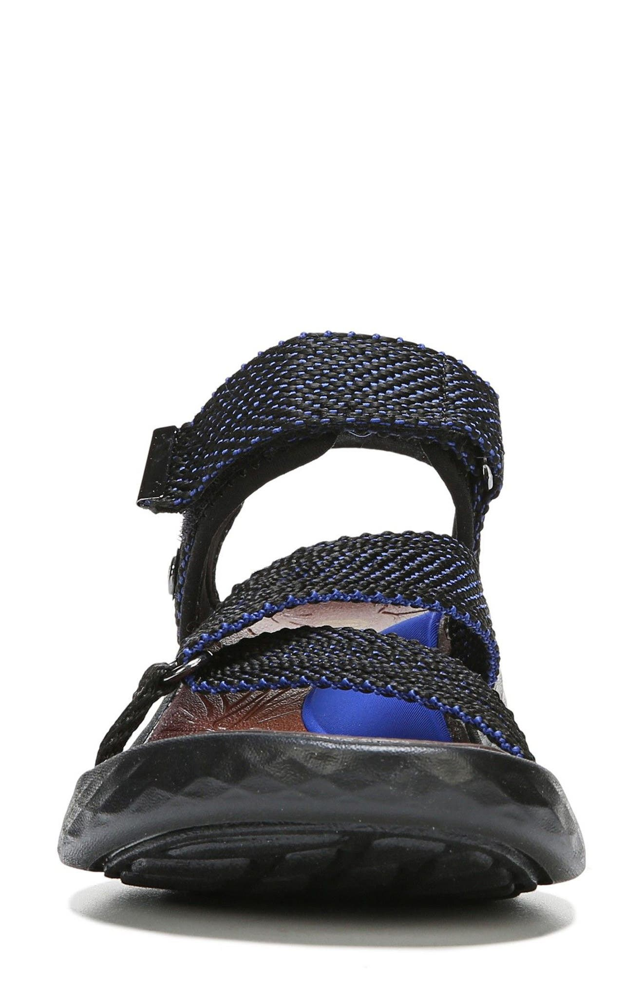 Jive Sandal,                             Alternate thumbnail 4, color,                             BLUE WEBBING FABRIC
