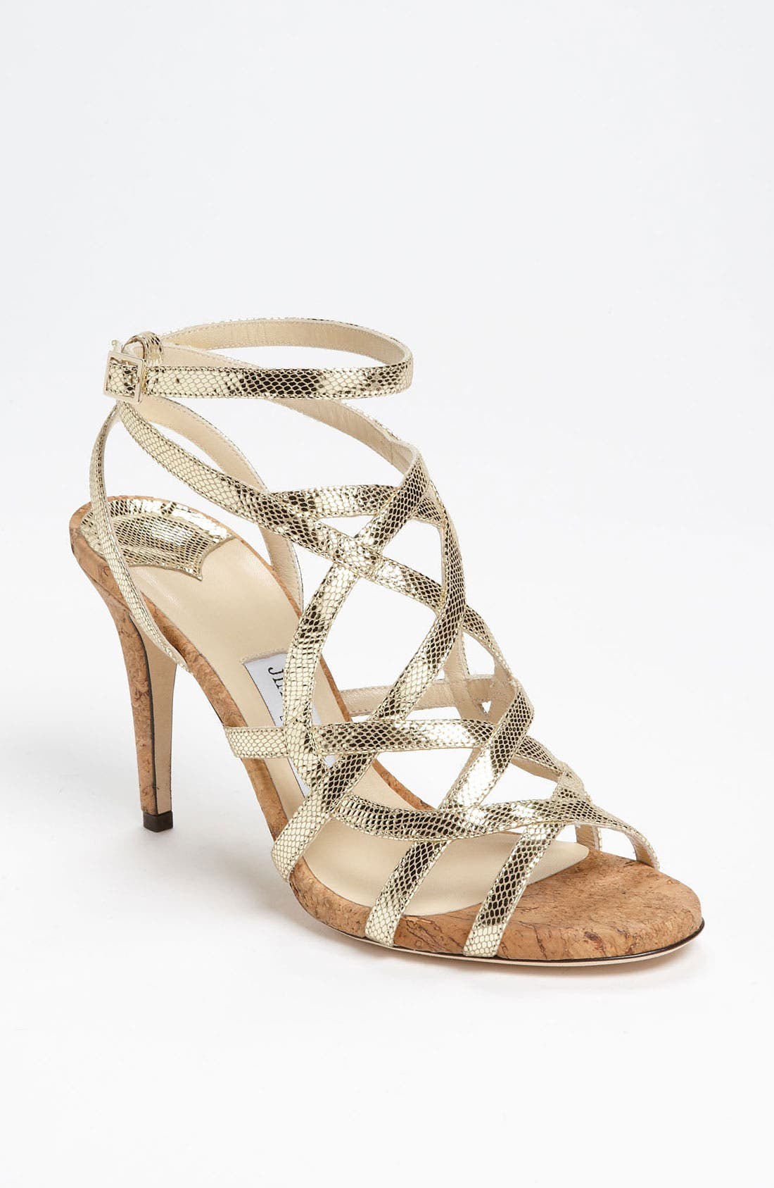 JIMMY CHOO 'Deeta' Sandal, Main, color, 710