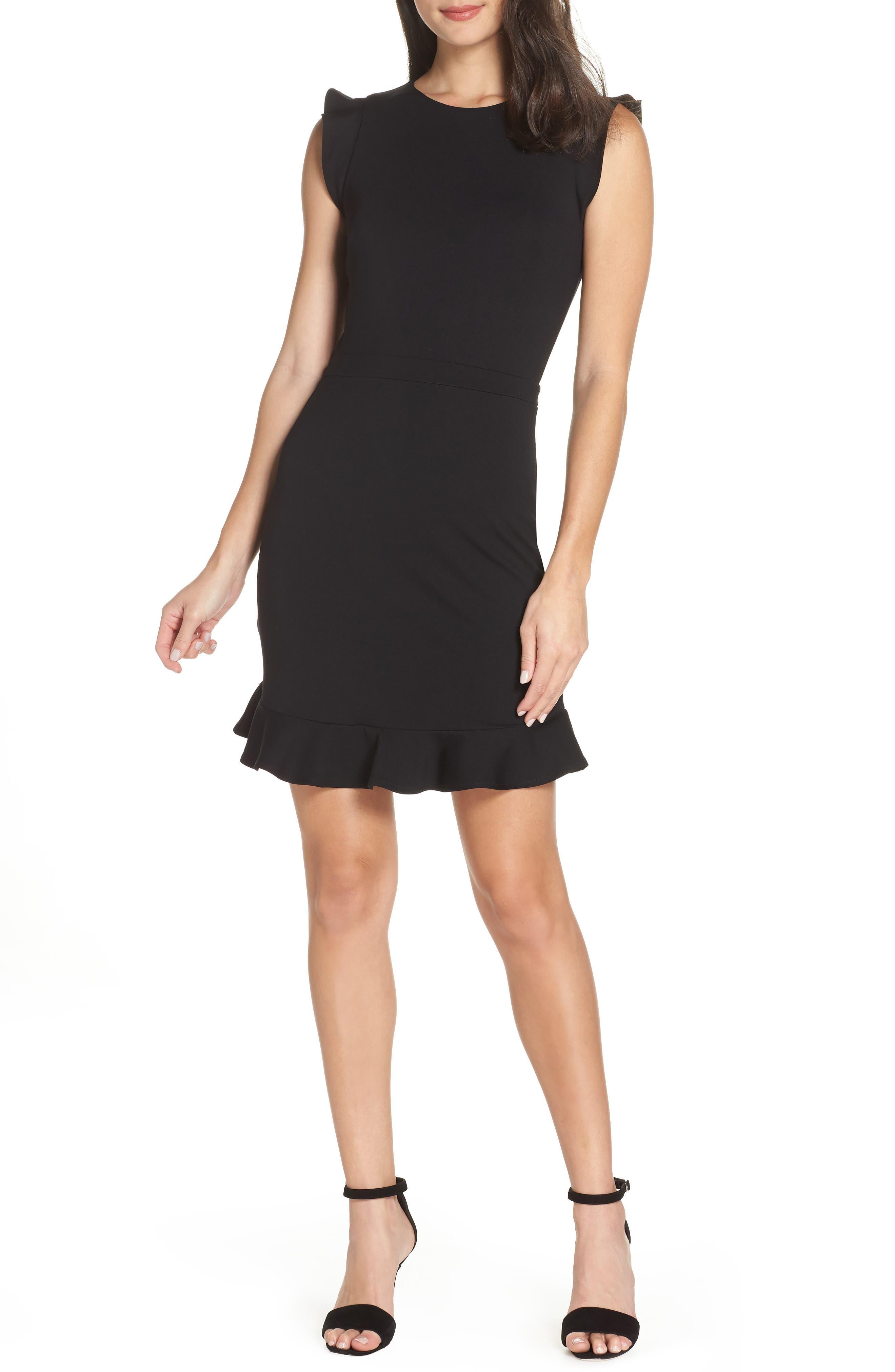 Ali & Jay Someday Minidress, Black