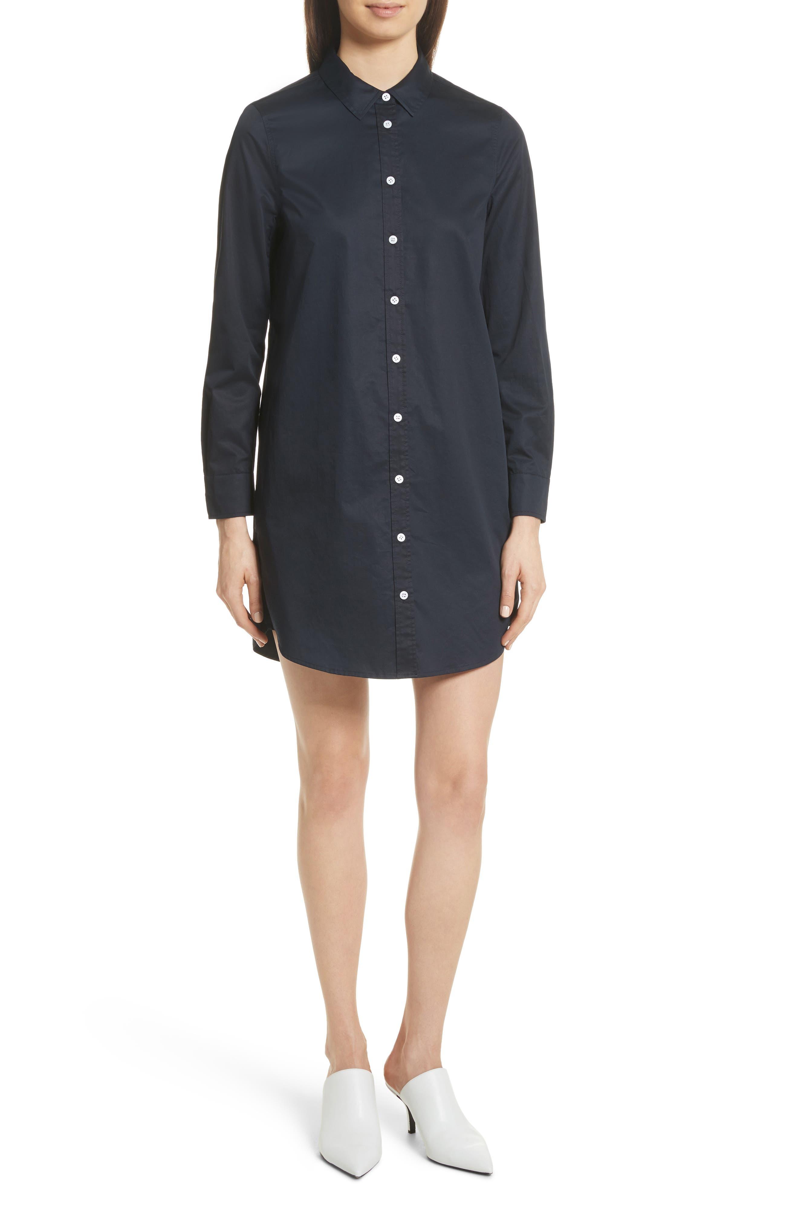 Carmine Cotton Shirtdress,                         Main,                         color, 005