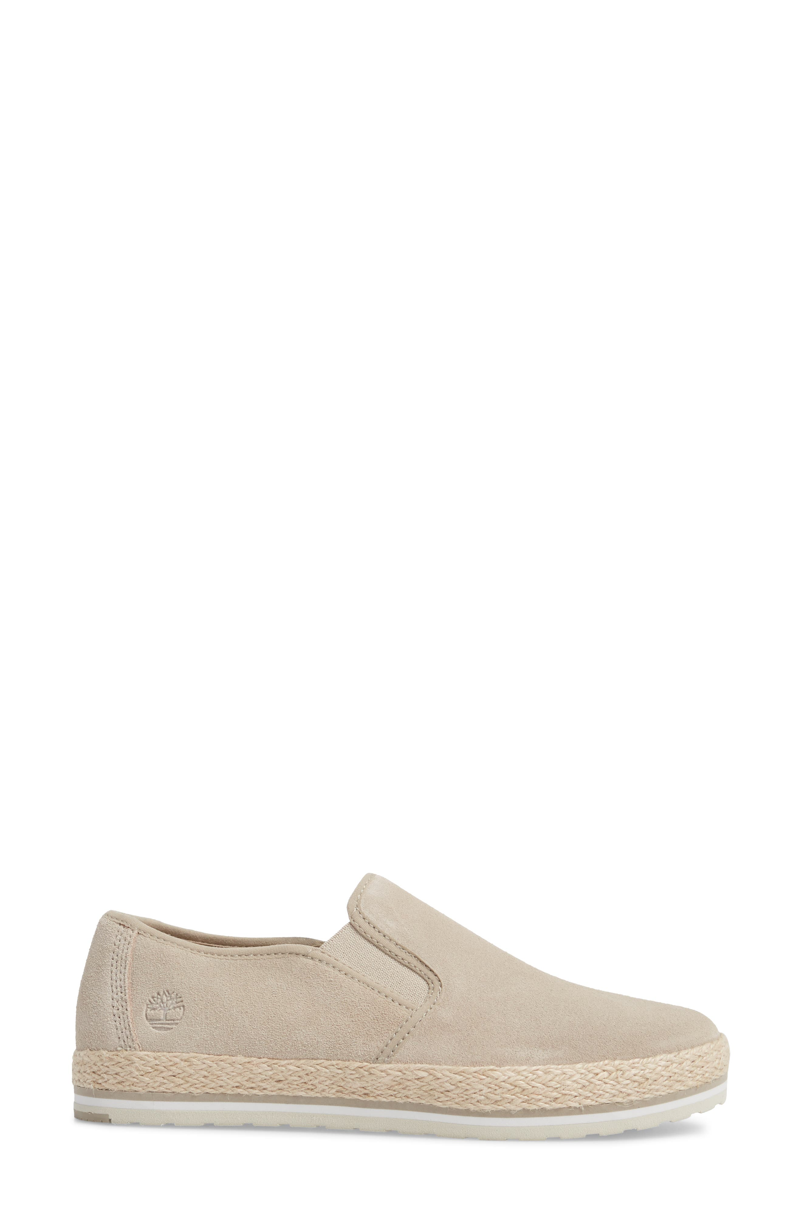 Eivissa Sea Slip-On Sneaker,                             Alternate thumbnail 3, color,                             LIGHT BEIGE LEATHER