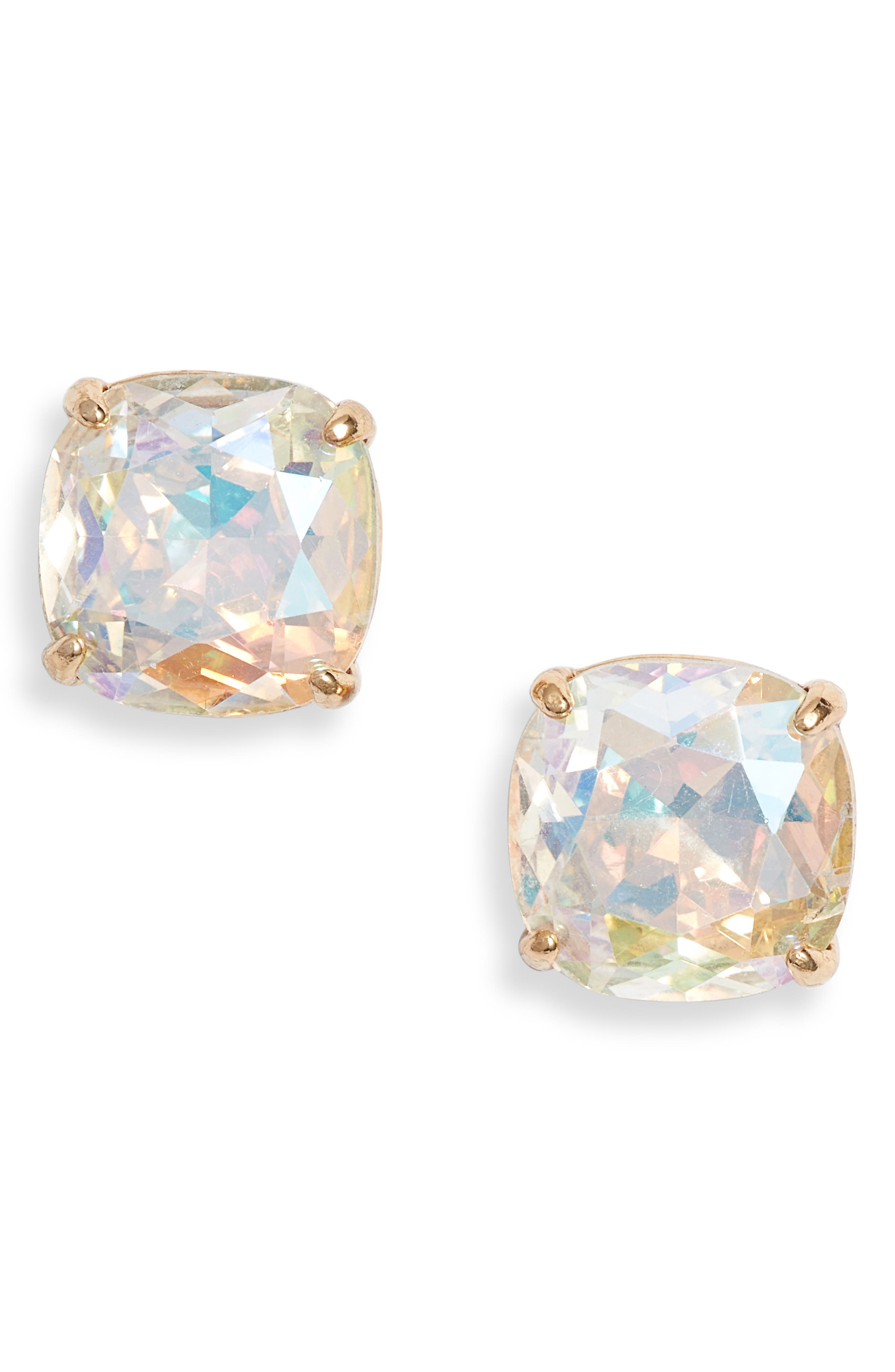 small square stud earrings,                         Main,                         color, 711