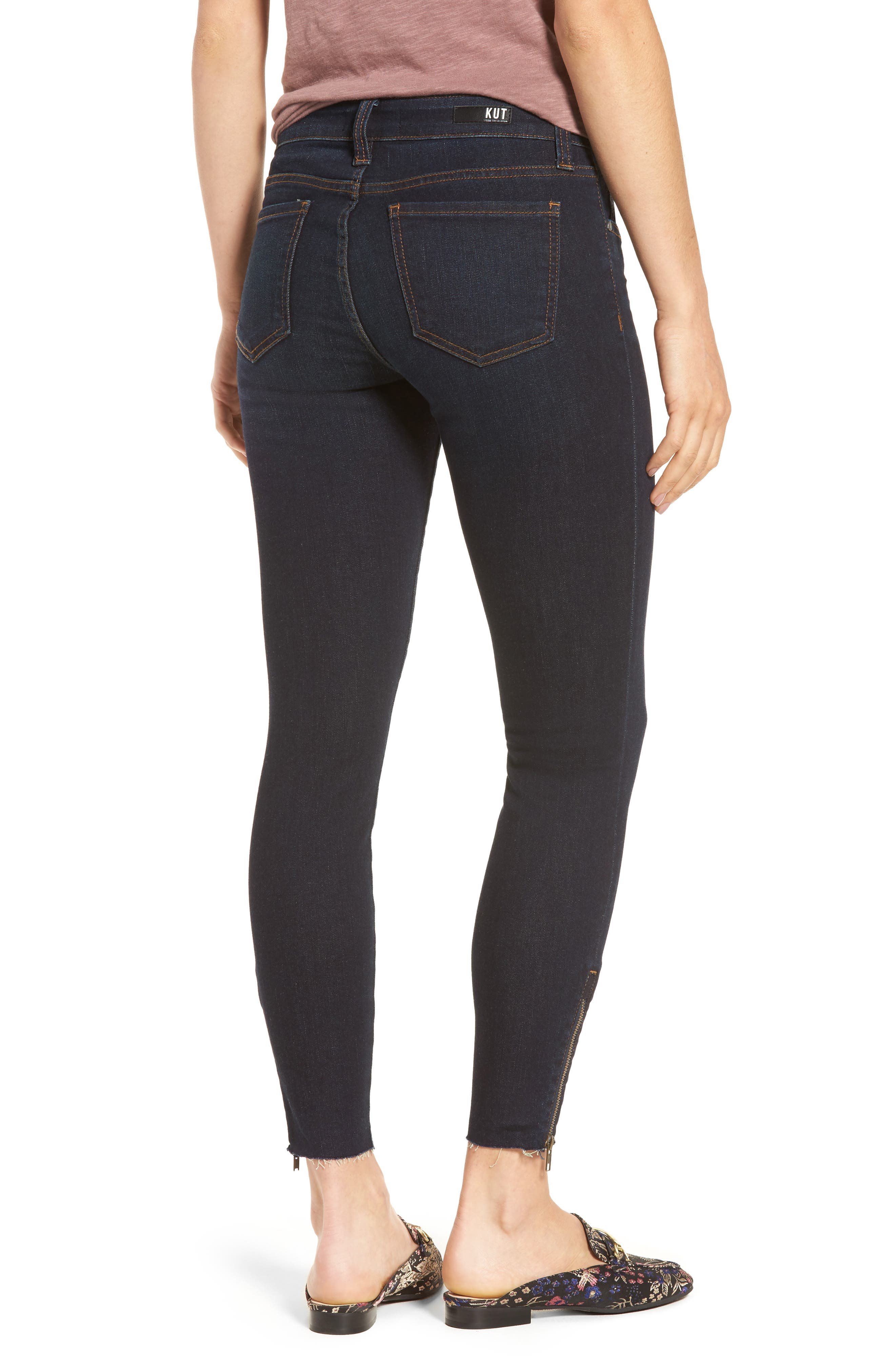 Connie Skinny Ankle Zip Hem Jeans,                             Alternate thumbnail 2, color,                             490
