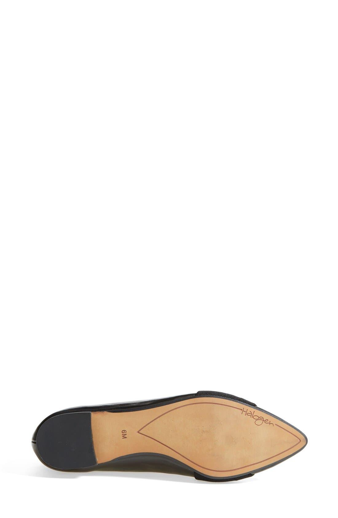 'Leah' Leather Flat,                             Alternate thumbnail 2, color,                             001