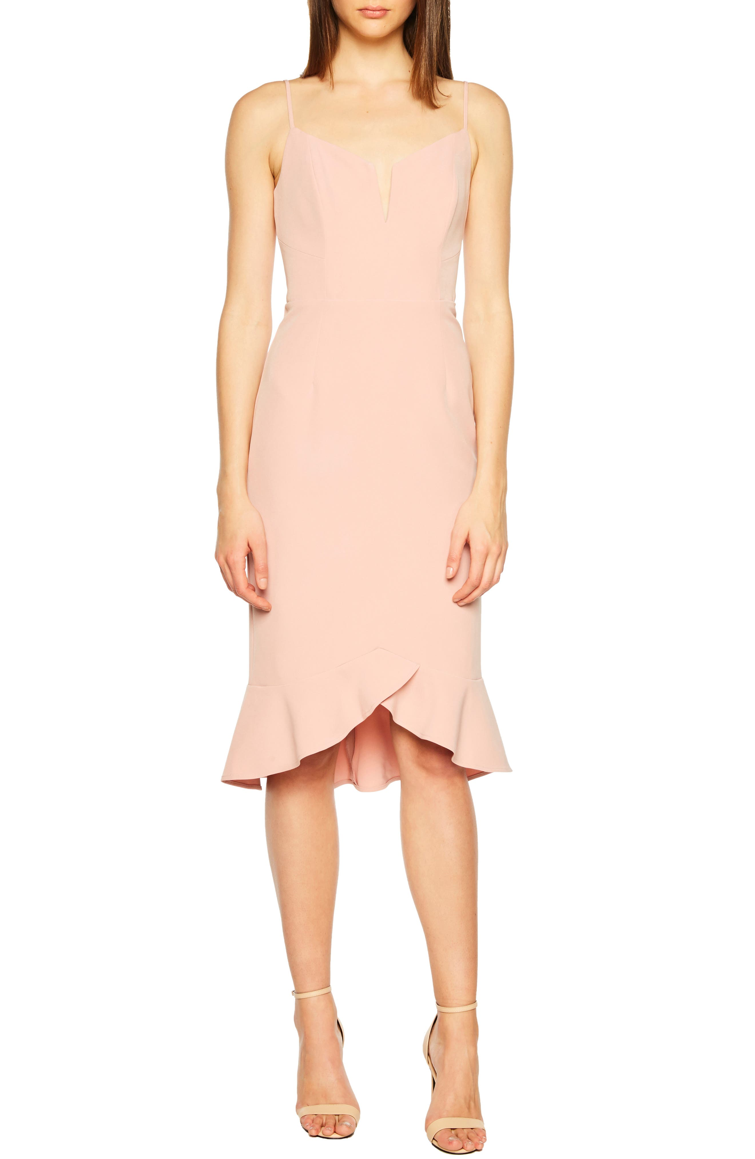 Bardot Kristen Flounce Dress, Pink