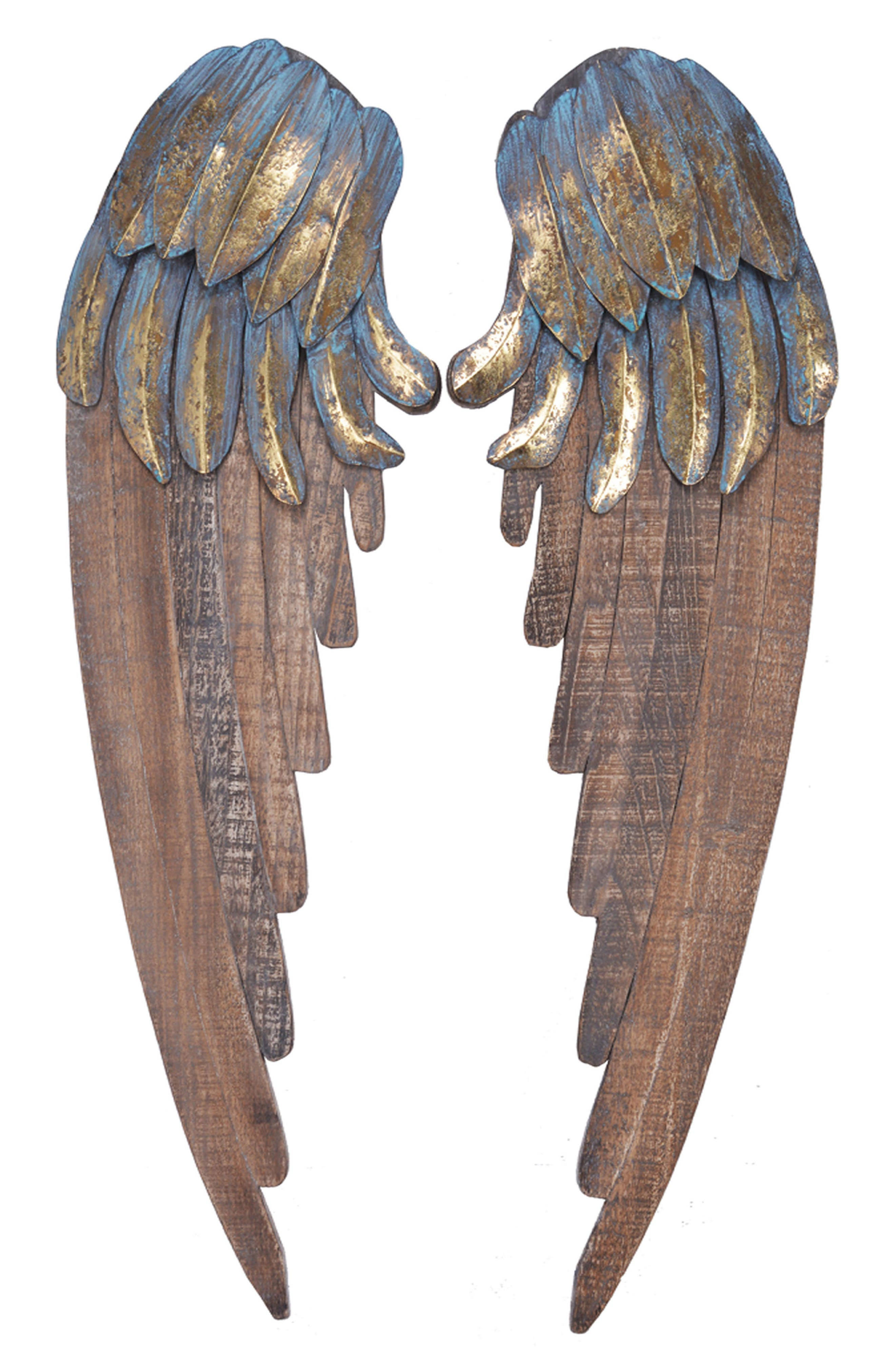 Angel Wings Wall Art,                             Main thumbnail 1, color,                             400