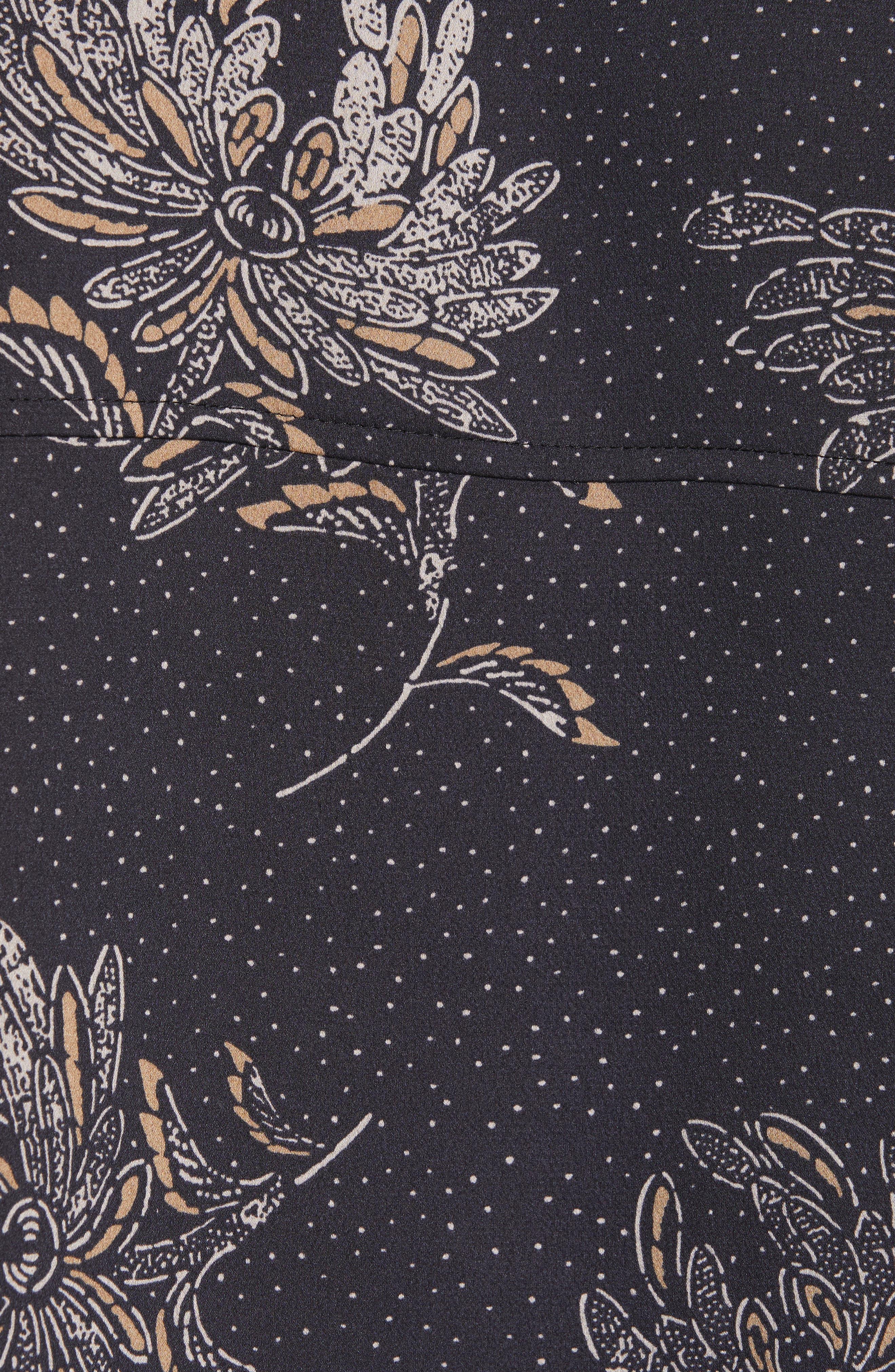 Floral Dot Silk Blouse,                             Alternate thumbnail 5, color,                             COASTAL