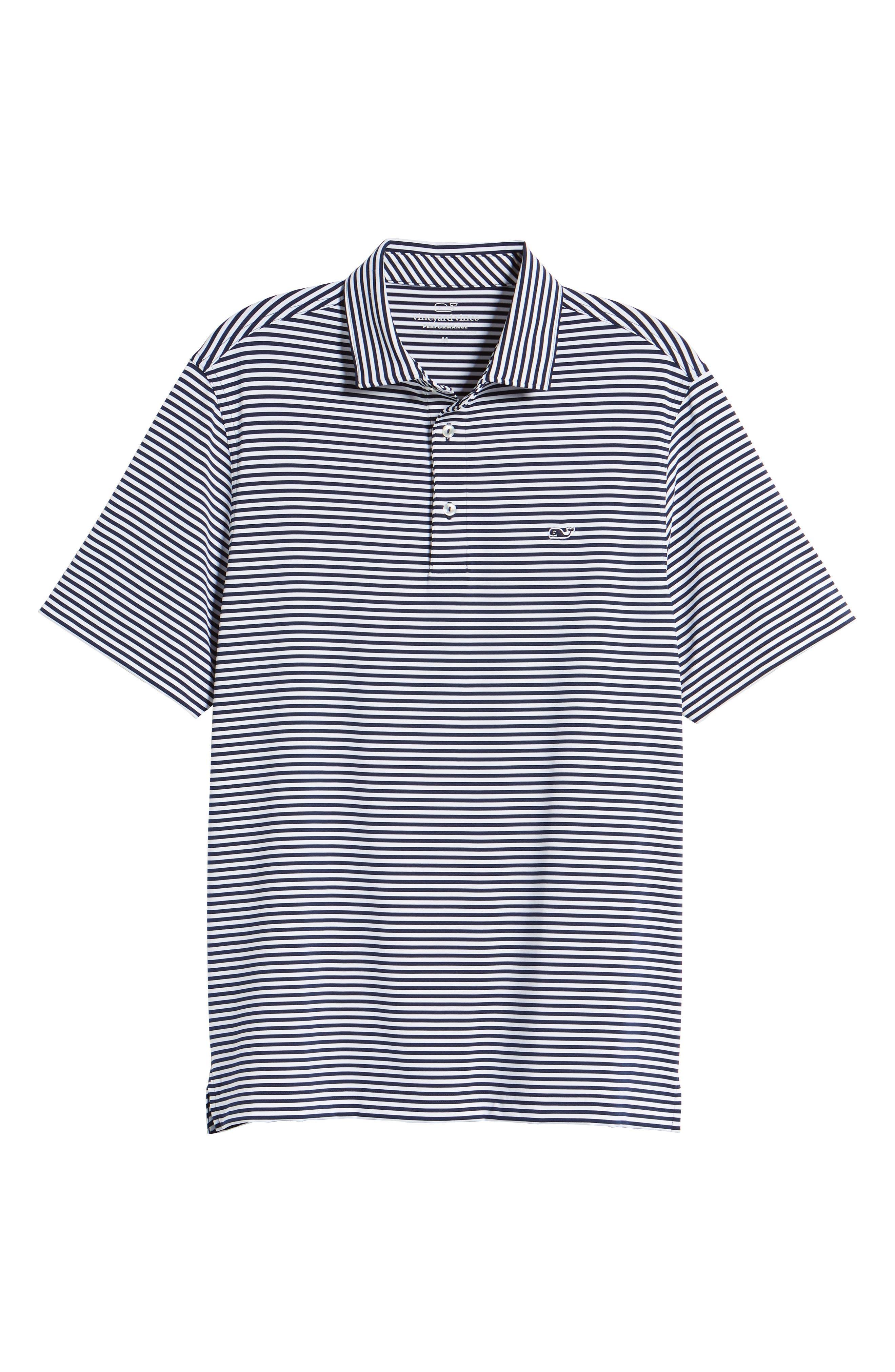 Color to White Feeder Stripe Polo,                             Alternate thumbnail 6, color,                             976