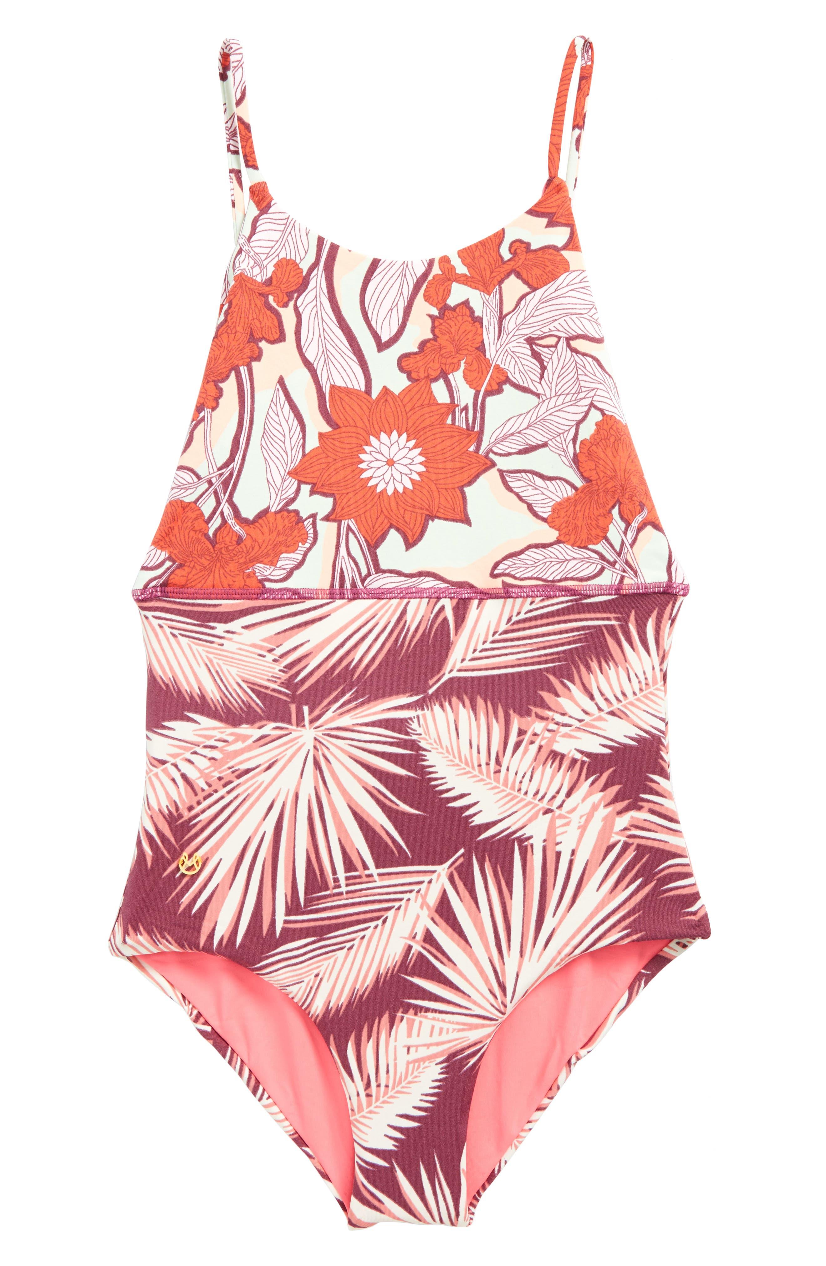 Currant Lollipop One-Piece Swimsuit,                             Main thumbnail 1, color,                             500