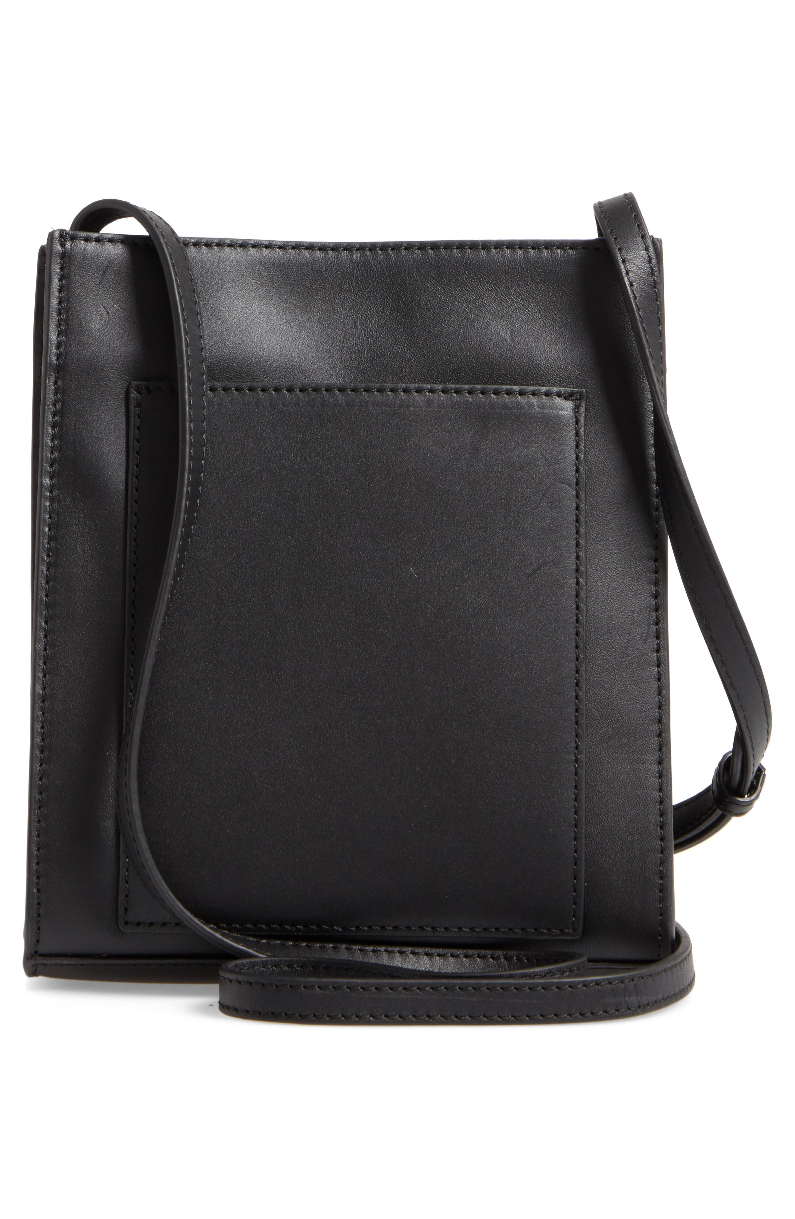 Camden Leather Crossbody Bag,                             Alternate thumbnail 3, color,                             001