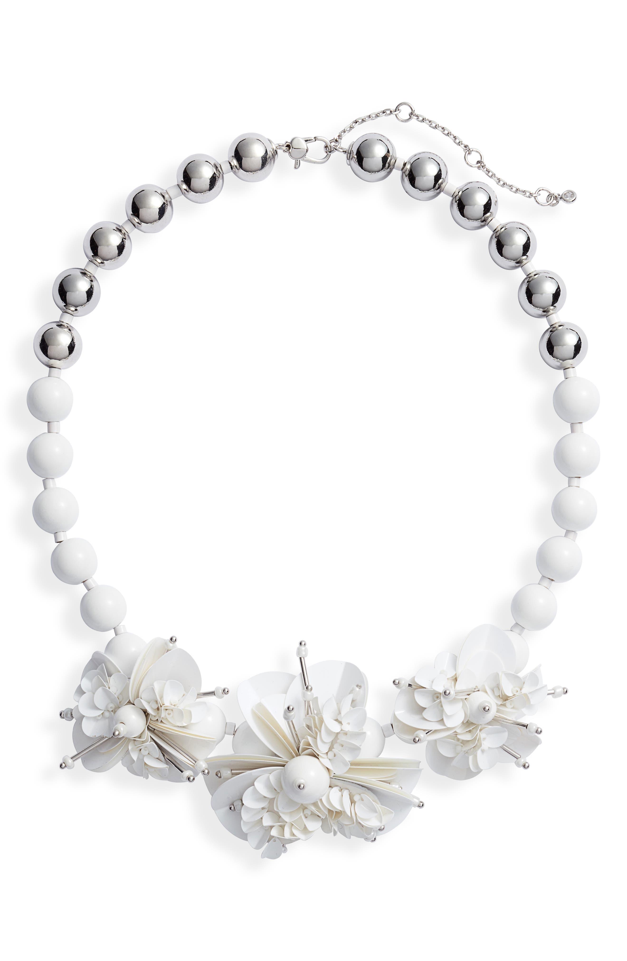 KATE SPADE NEW YORK,                             vibrant life statement necklace,                             Main thumbnail 1, color,                             WHITE MULTI