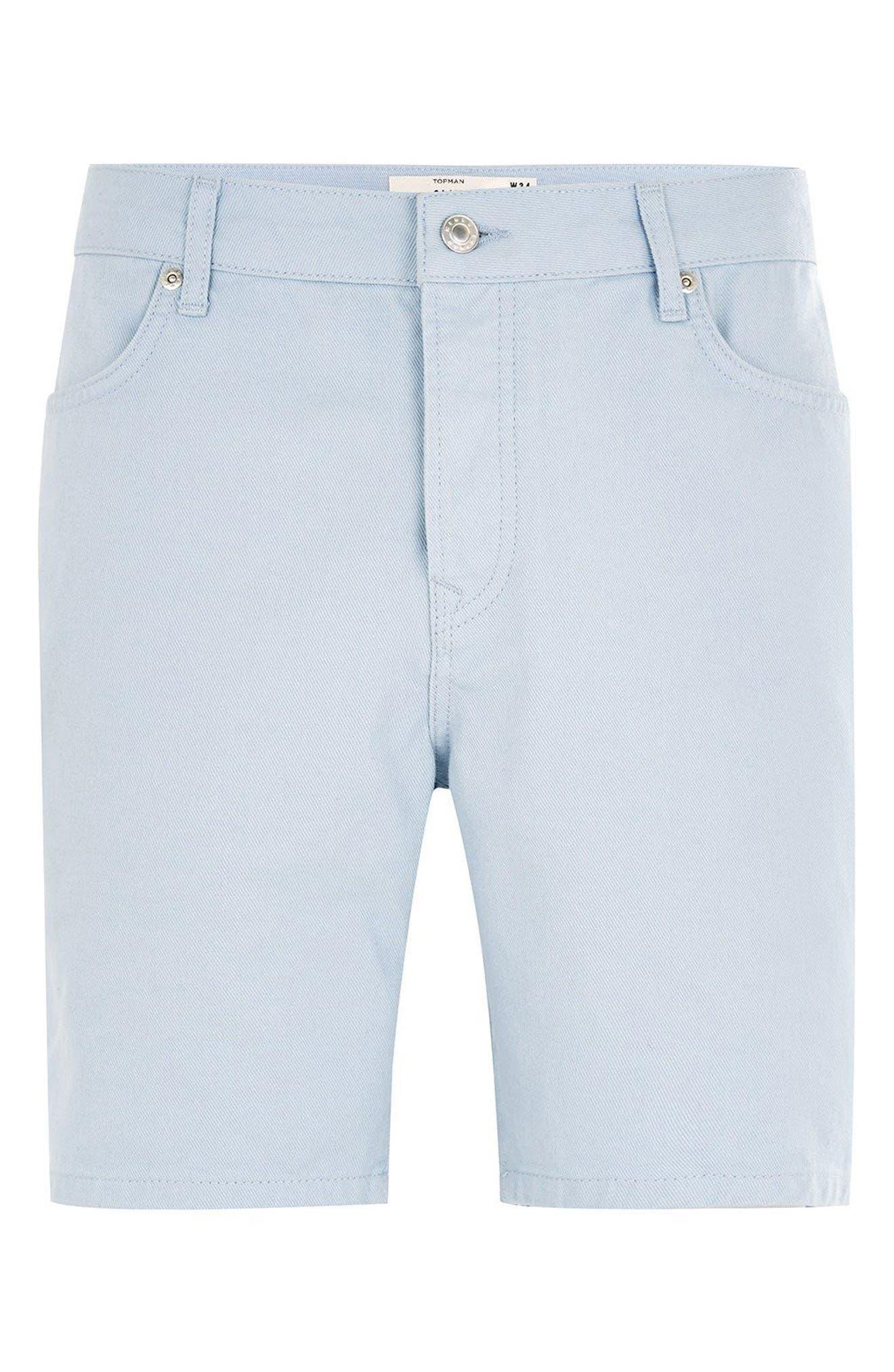 Slim Fit Denim Shorts,                             Alternate thumbnail 4, color,                             400