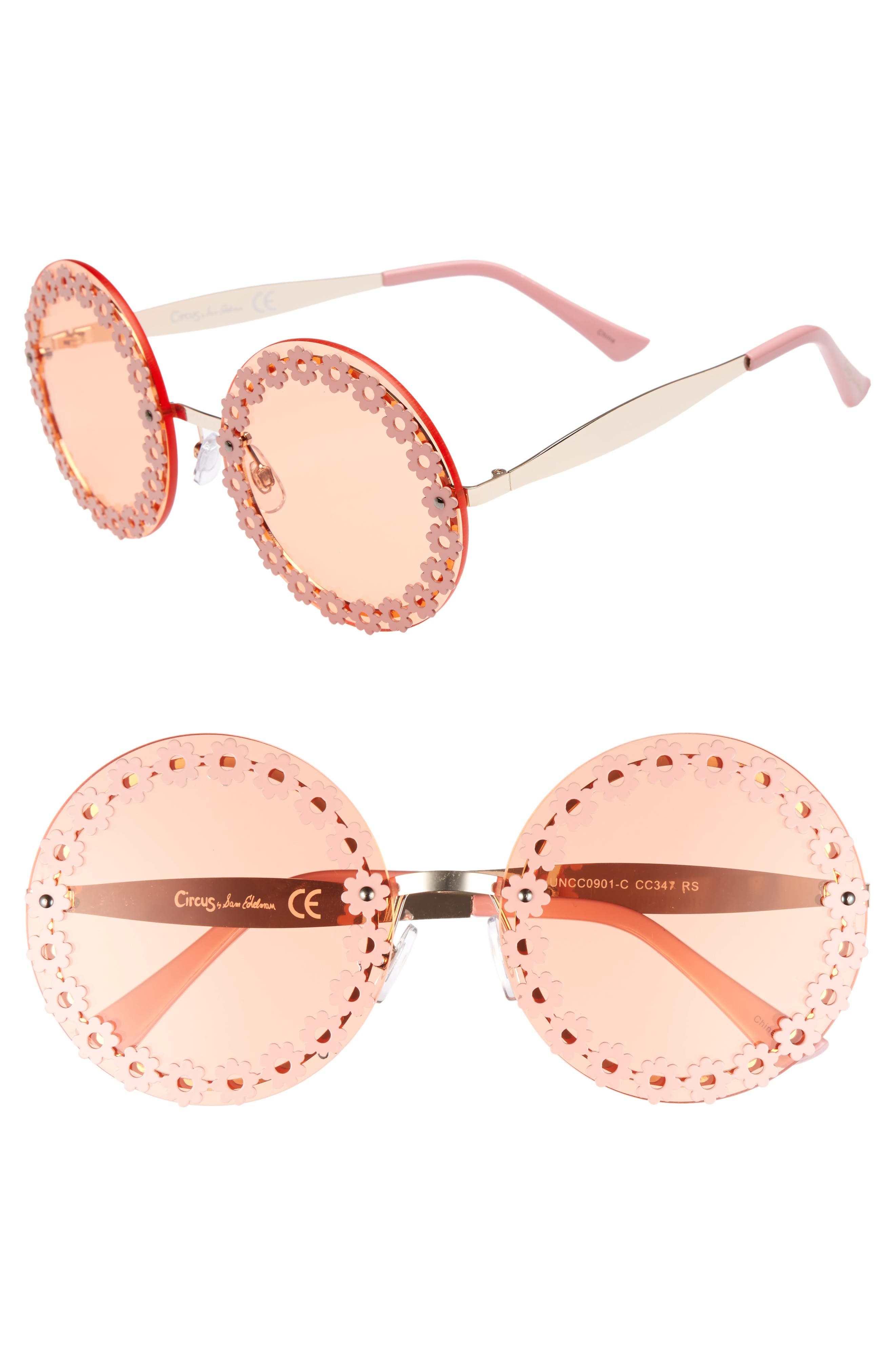 60mm Round Sunglasses,                             Main thumbnail 2, color,