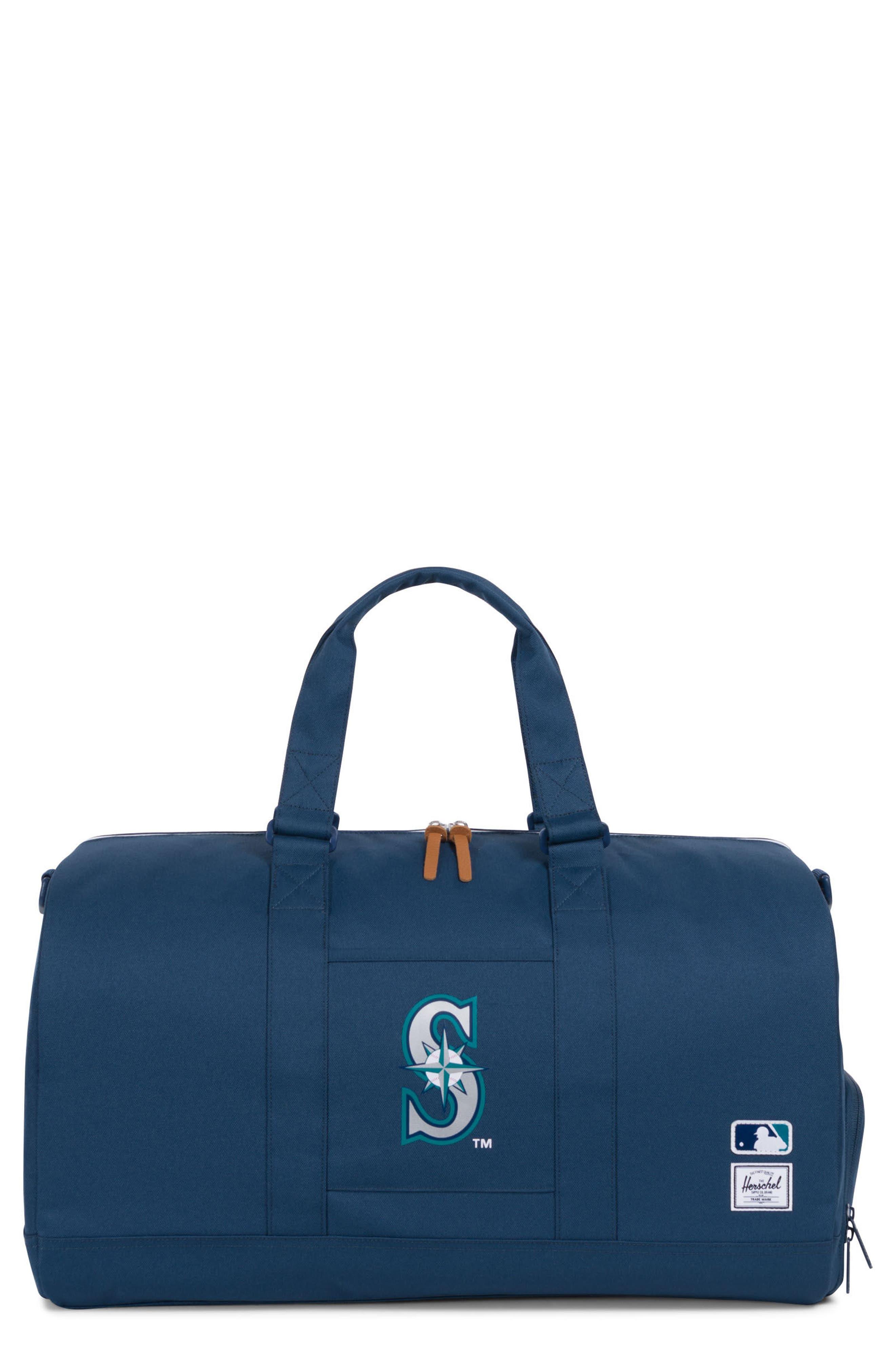 Novel - MLB American League Duffel Bag,                             Main thumbnail 1, color,                             SEATTLE MARINERS