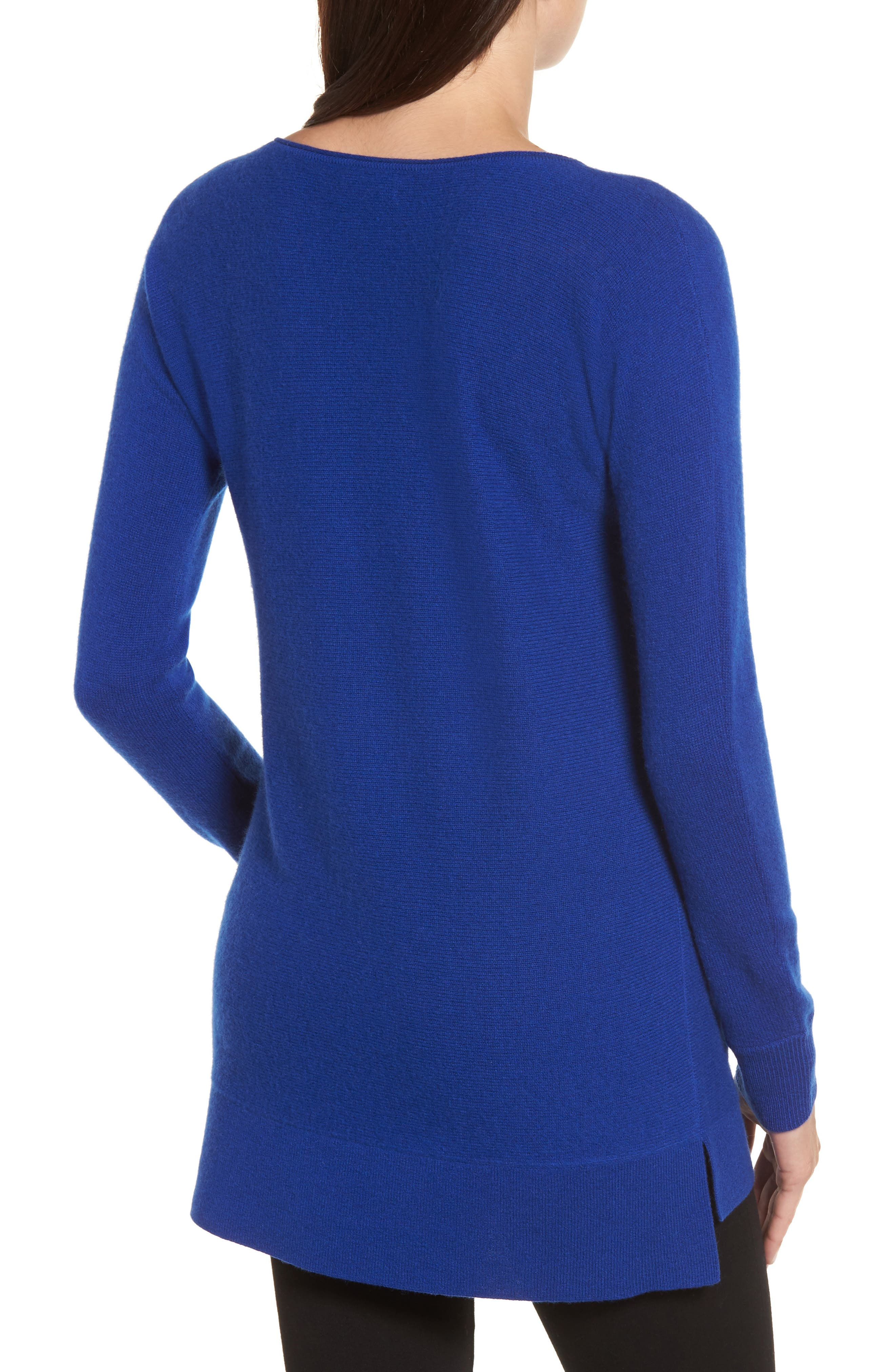High/Low Wool & Cashmere Tunic Sweater,                             Alternate thumbnail 25, color,