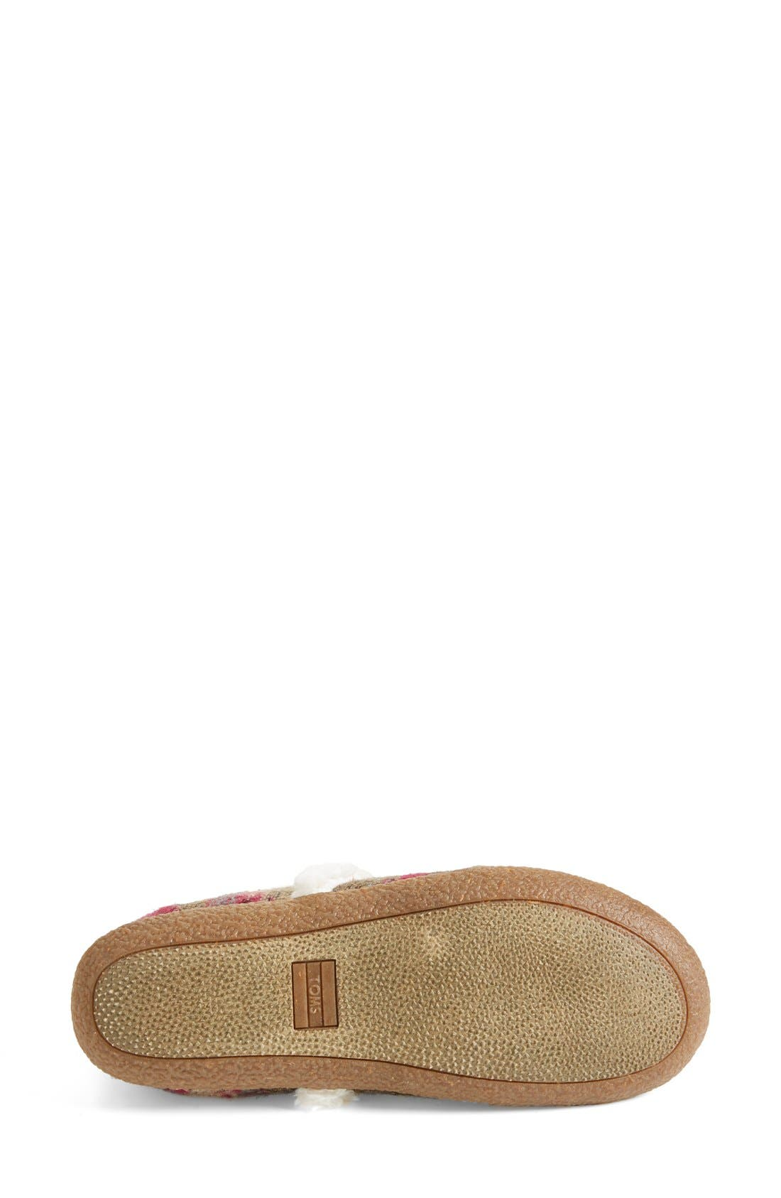 TOMS,                             'Classic - Wool' Slippers,                             Alternate thumbnail 3, color,                             050