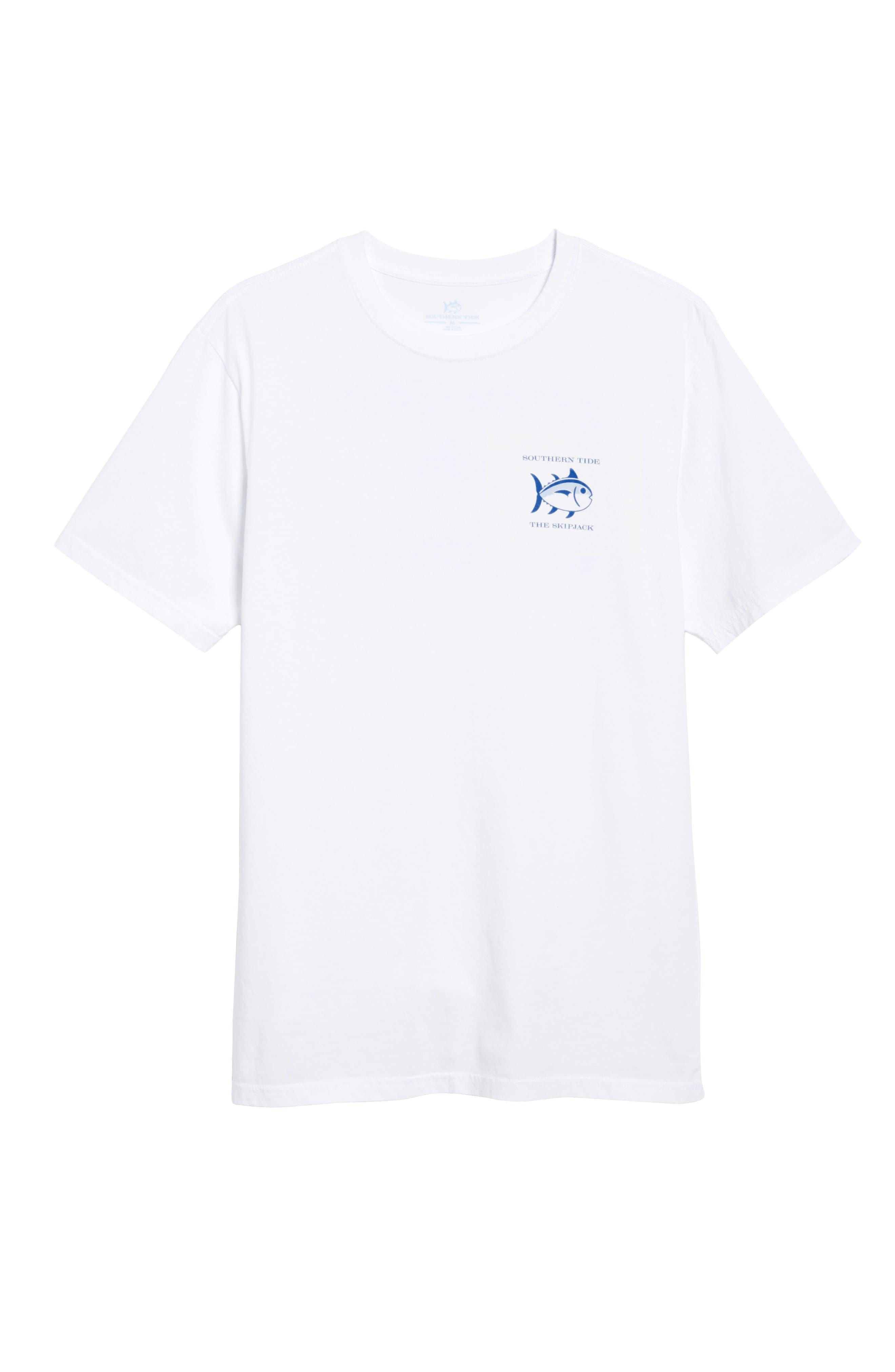 Short Sleeve Skipjack T-Shirt,                             Alternate thumbnail 2, color,                             WHITE
