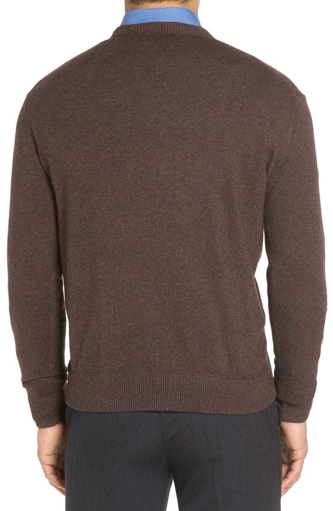 'Jersey Sport' Cotton Blend Crewneck Sweater,                             Alternate thumbnail 11, color,