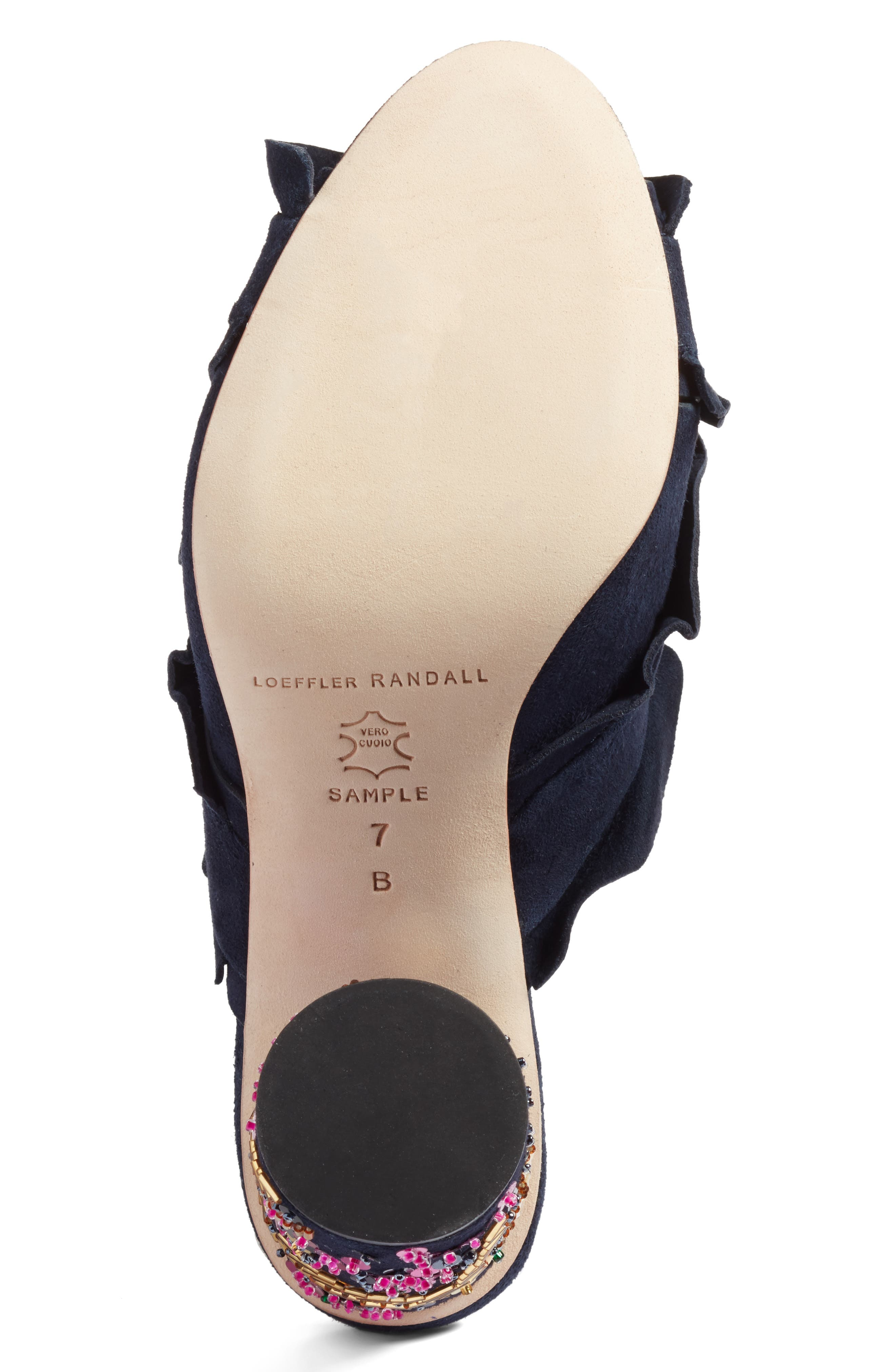 Kaya Embellished Ruffle Slide Sandal,                             Alternate thumbnail 6, color,                             499