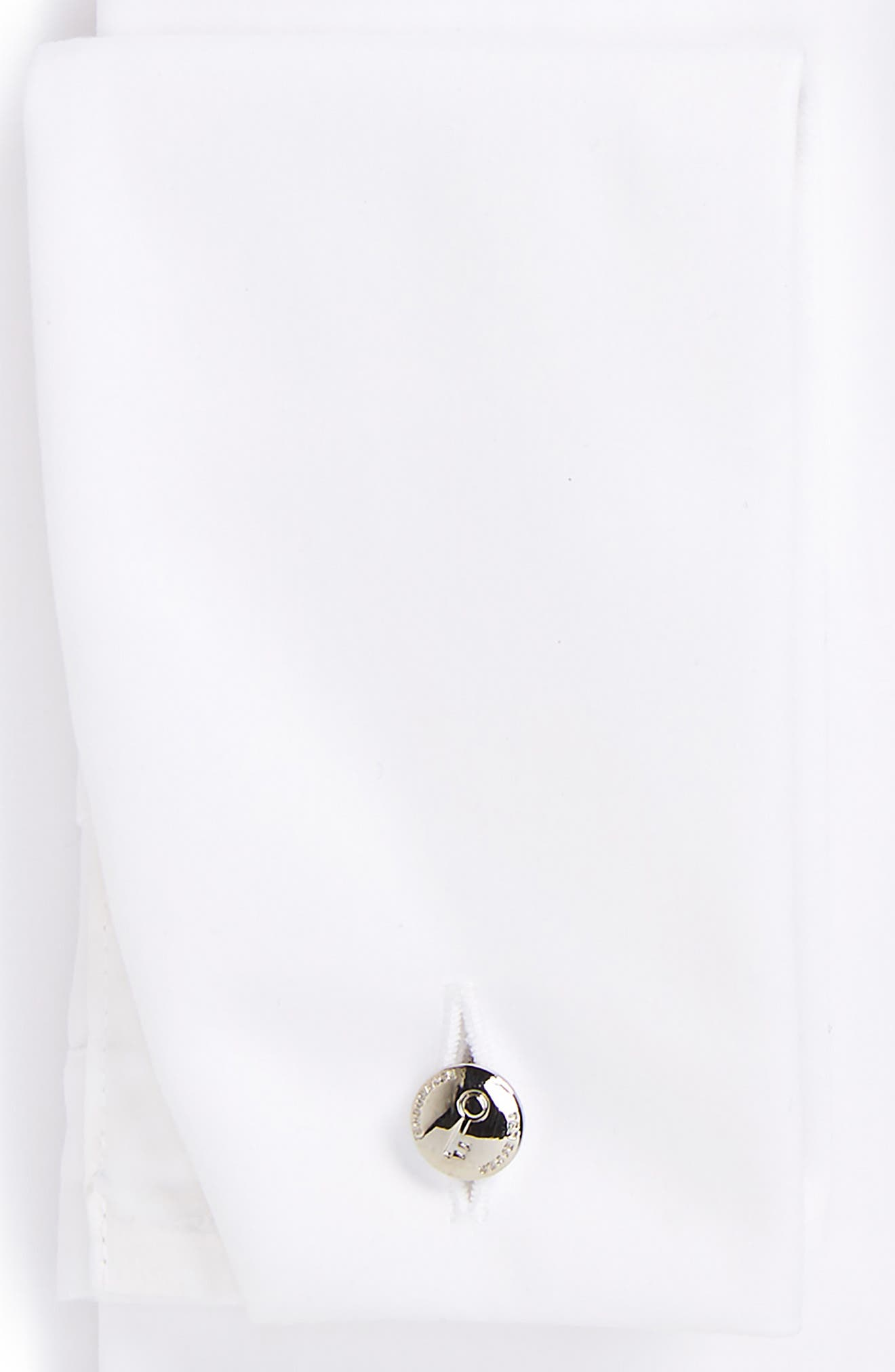 Fedra Trim Fit Tuxedo Shirt,                             Alternate thumbnail 6, color,                             WHITE