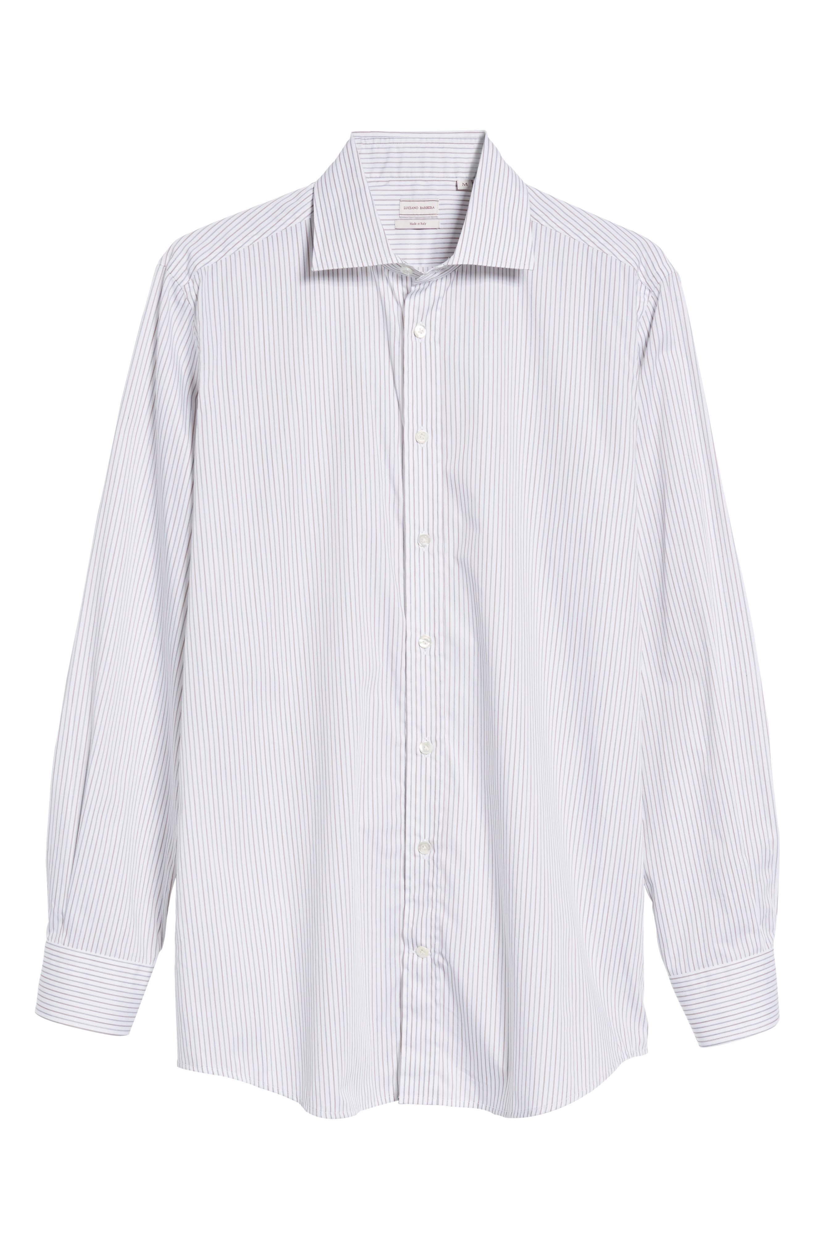 Classic Fit Stripe Sport Shirt,                             Alternate thumbnail 6, color,                             210