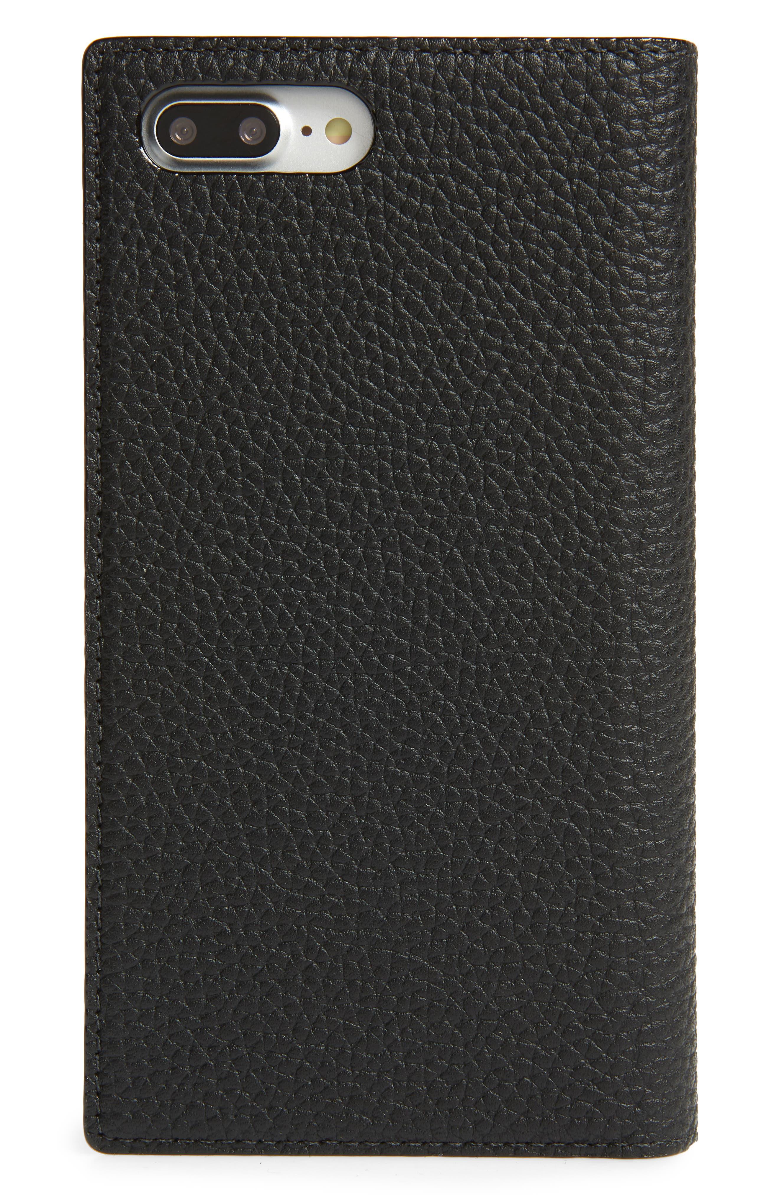 iPhone 7/8 & 7/8 Plus leather folio case,                             Alternate thumbnail 3, color,                             001