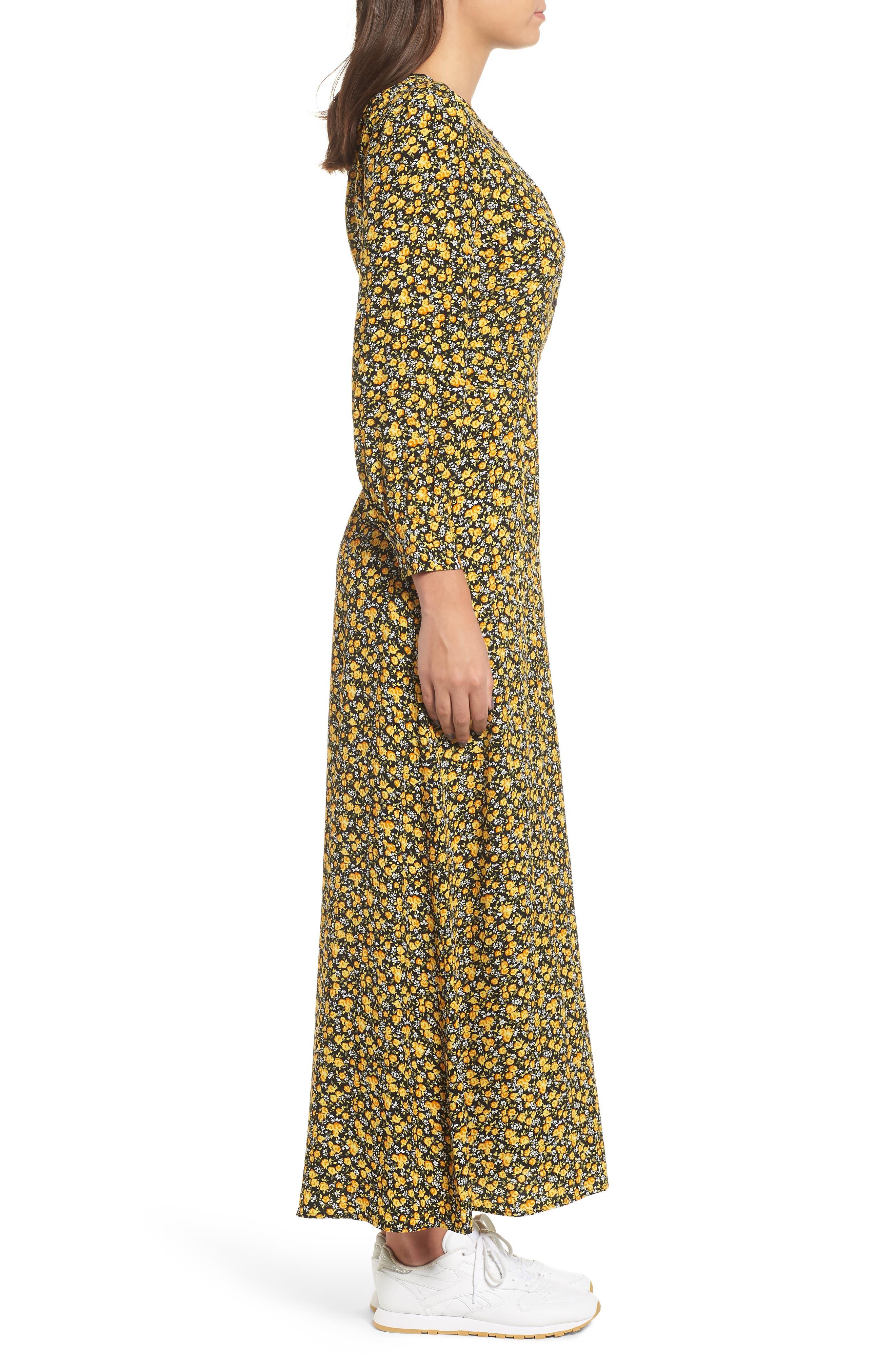 Ditzy Floral Dress,                             Alternate thumbnail 3, color,                             DITSY FLOWER