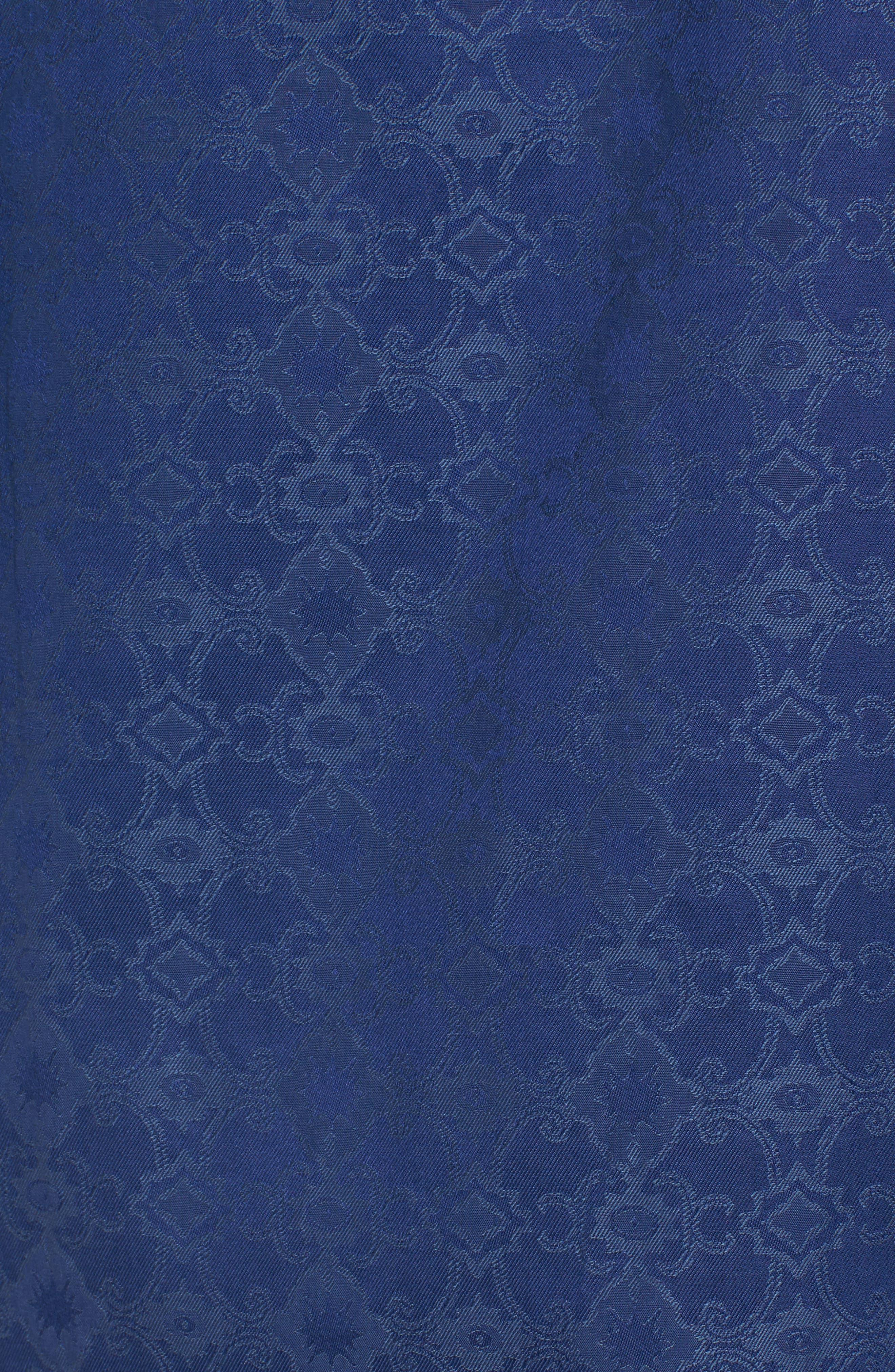 Classic Fit Filigree Jacquard Sport Shirt,                             Alternate thumbnail 5, color,