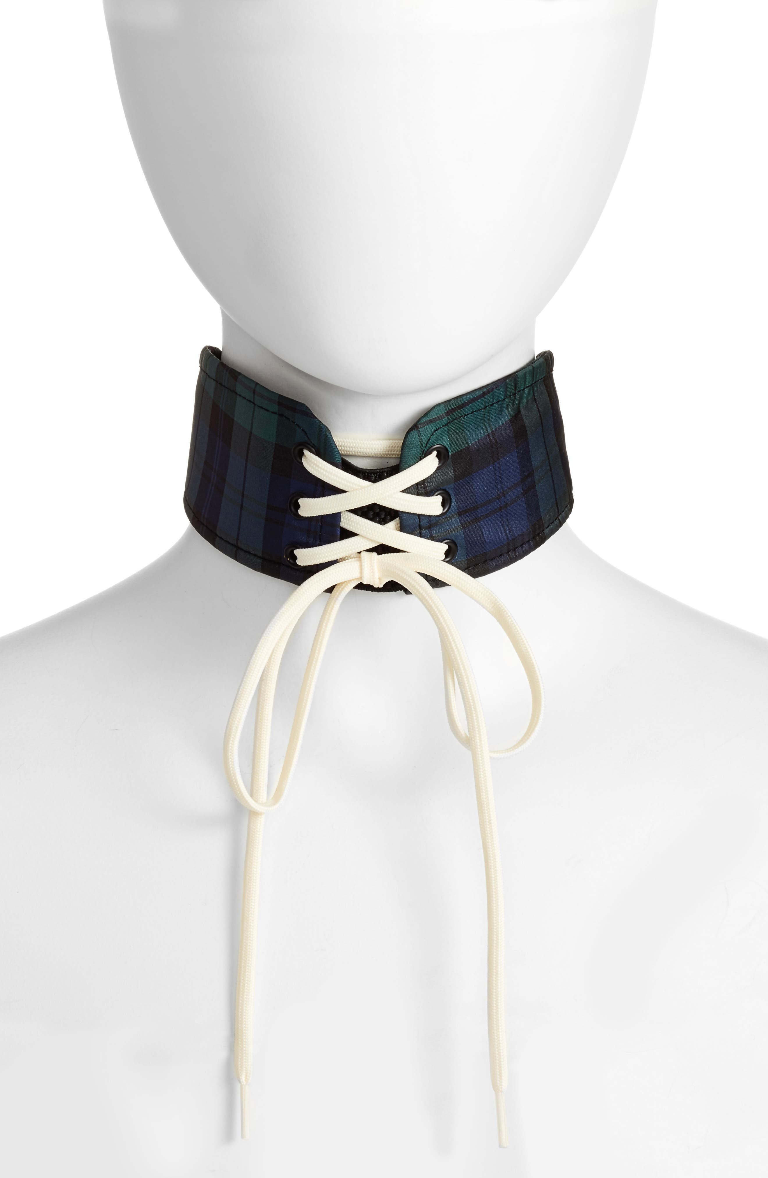 FENTY PUMA by Rihanna Lace-Up Choker,                         Main,                         color, 400