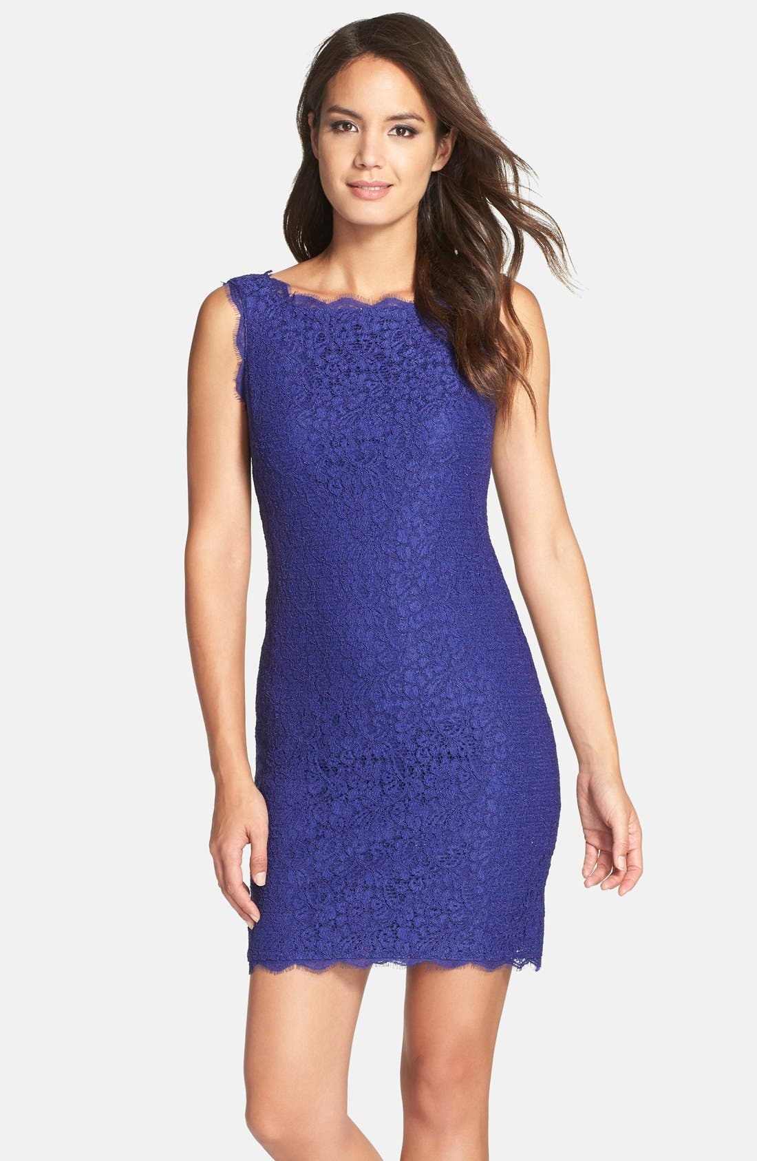 Boatneck Lace Sheath Dress,                             Main thumbnail 16, color,
