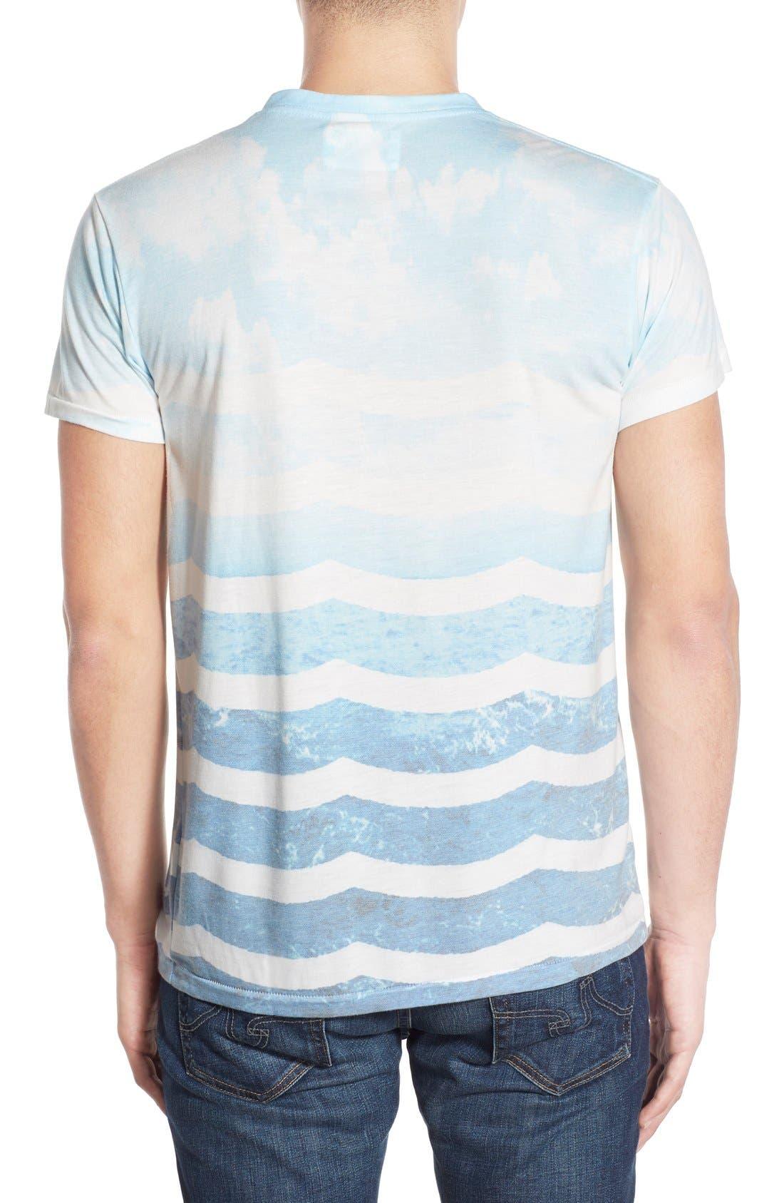 SOL ANGELES,                             'Marine Layer' V-Neck T-Shirt,                             Alternate thumbnail 5, color,                             482