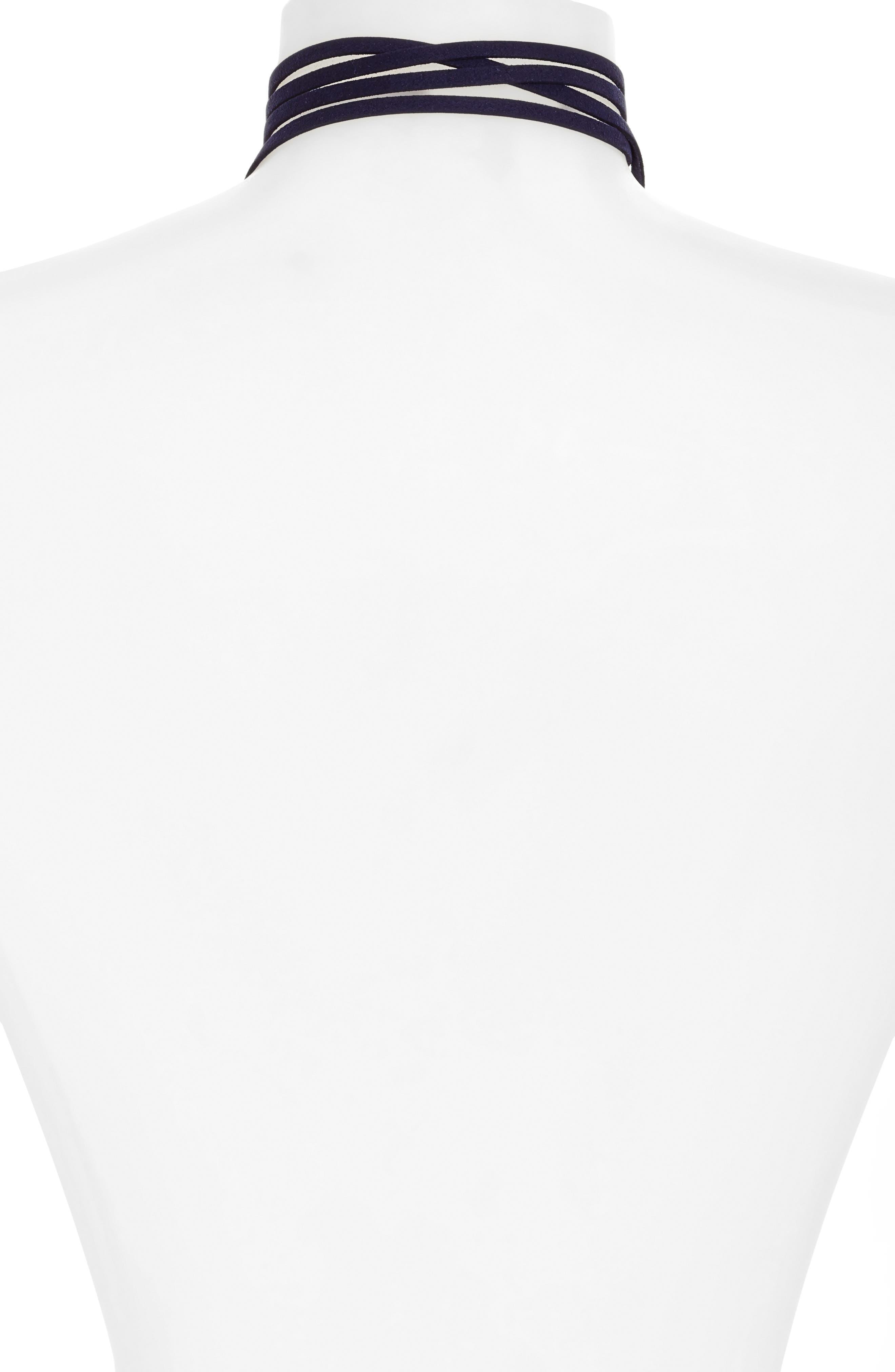 Kale Wrap Choker Necklace,                             Alternate thumbnail 2, color,                             710