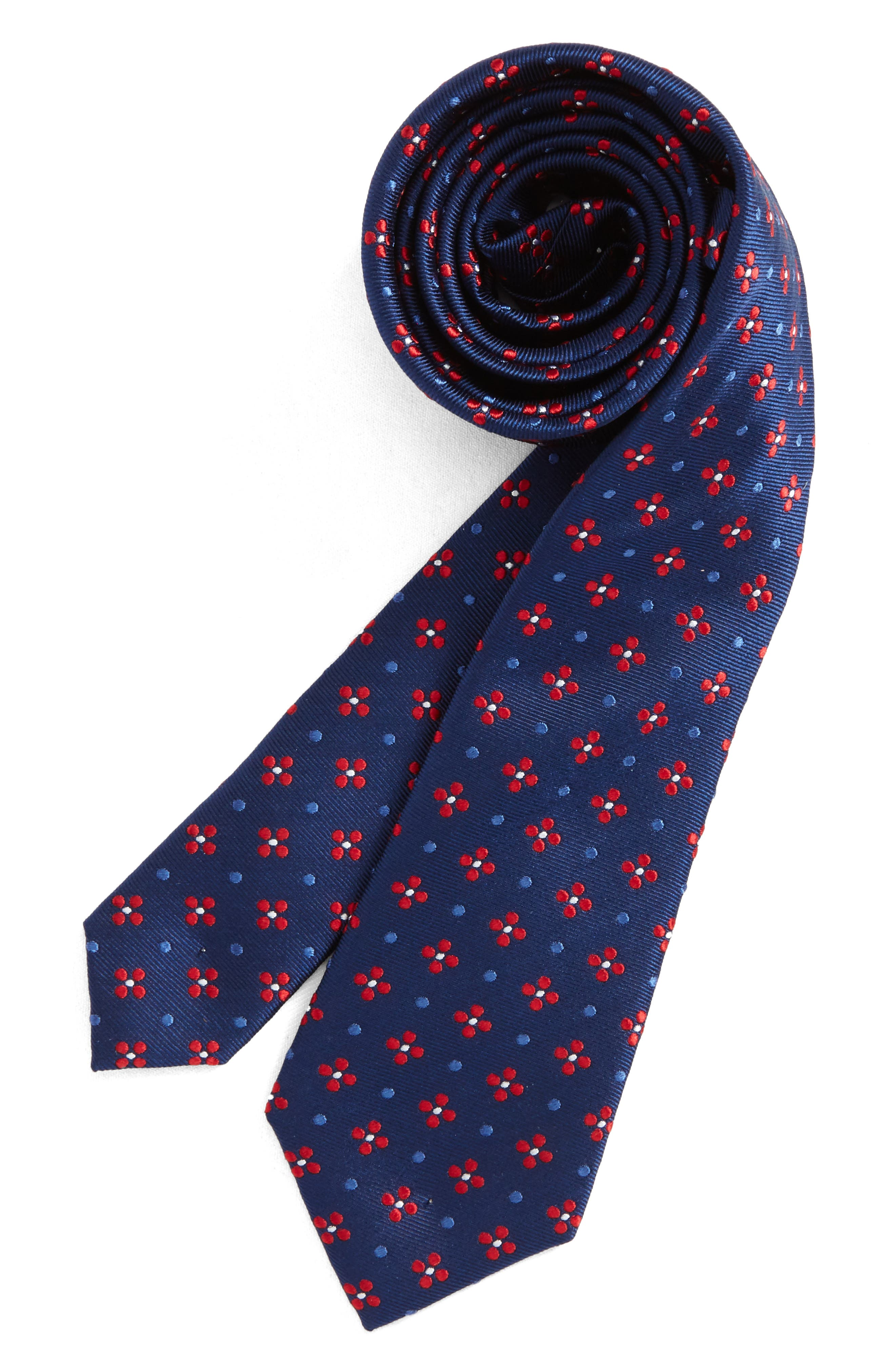 Medallion Silk Tie,                             Main thumbnail 4, color,