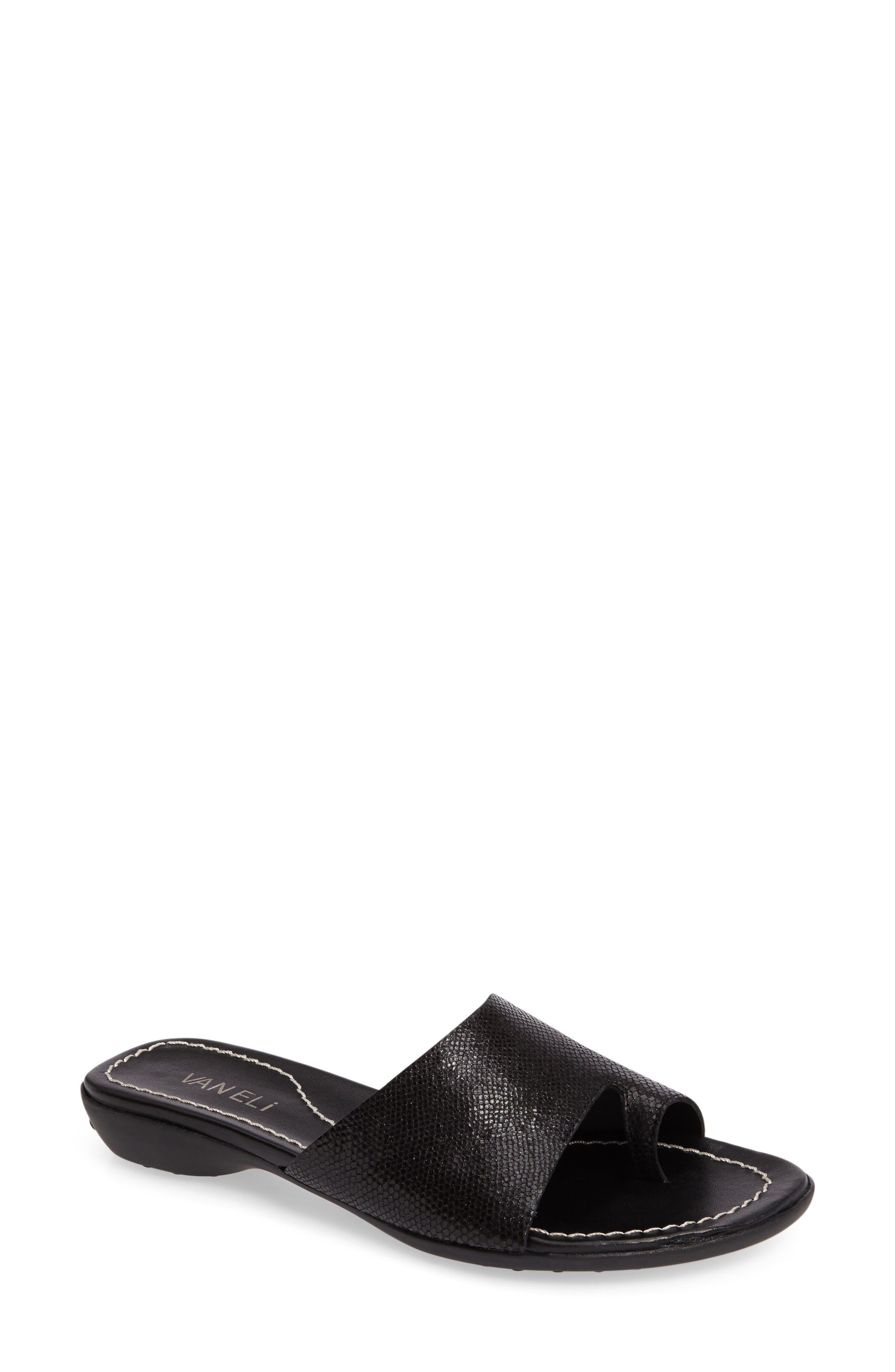 'Tallis' Snake Embossed Leather Slide Sandal,                             Main thumbnail 3, color,