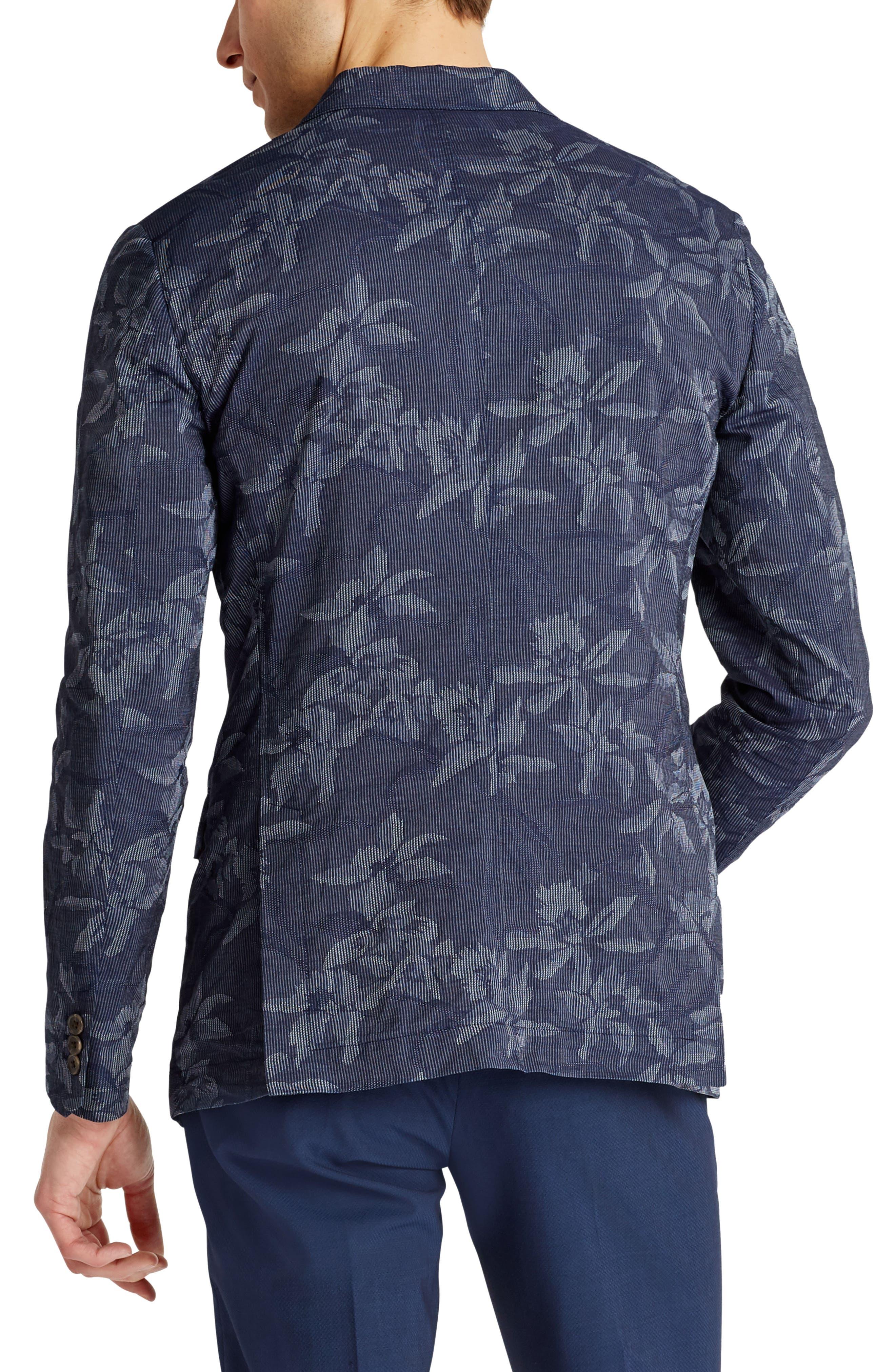 Slim Fit Floral Cotton Blend Sport Coat,                             Alternate thumbnail 2, color,                             420