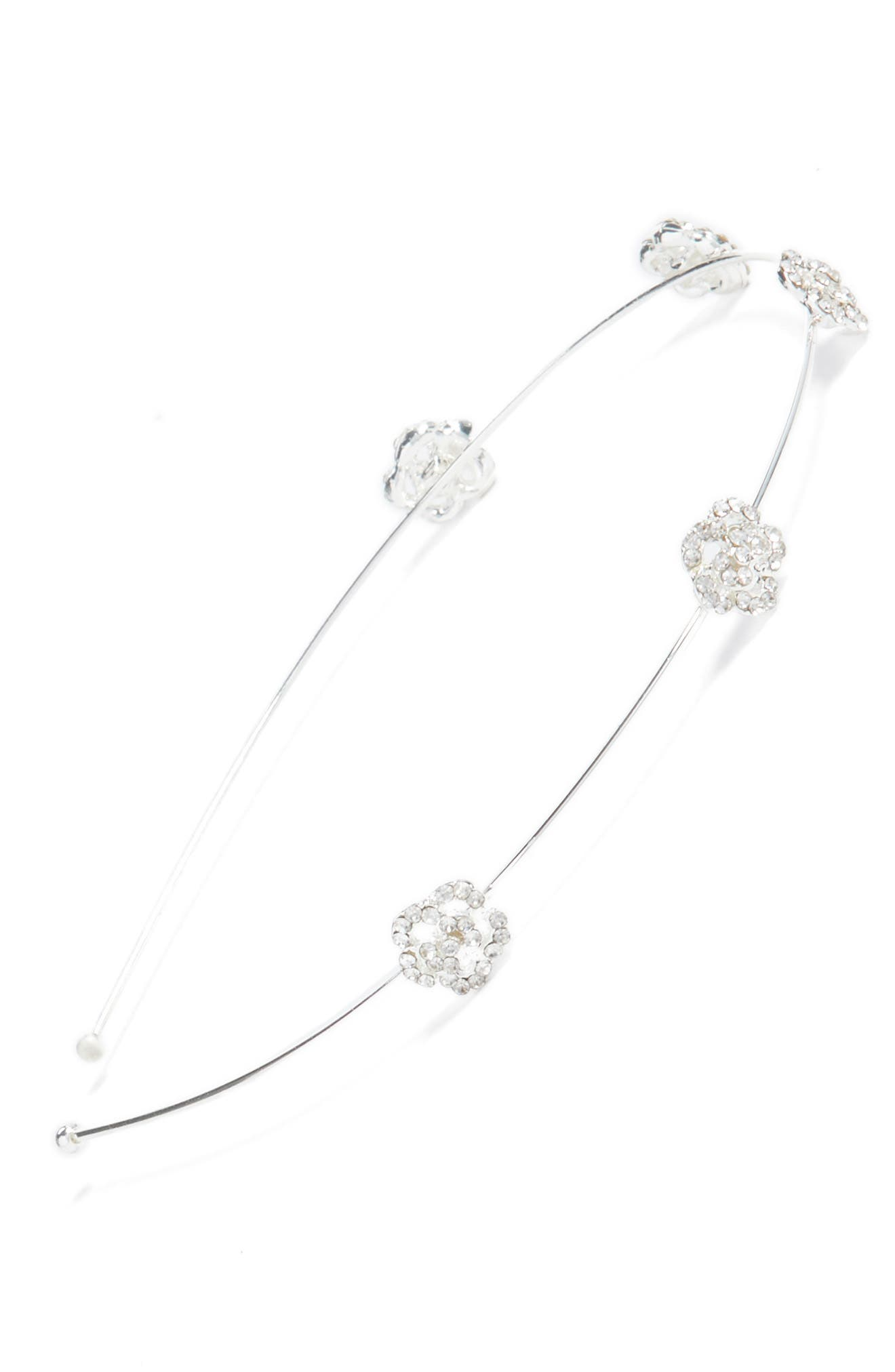 Mini Rose Skinny Headband,                             Main thumbnail 1, color,                             040