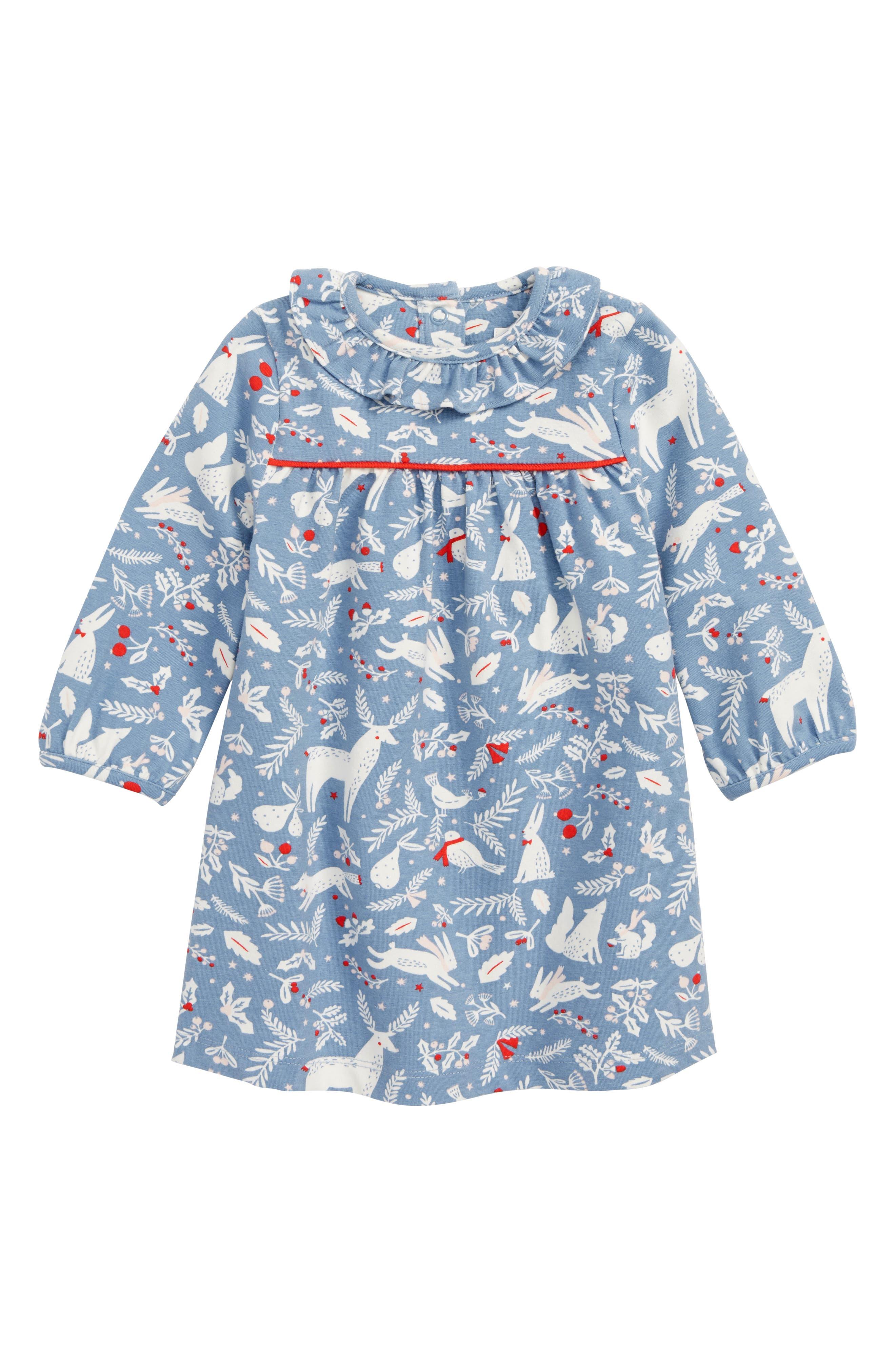 Christmas Jersey Dress, Main, color, 400
