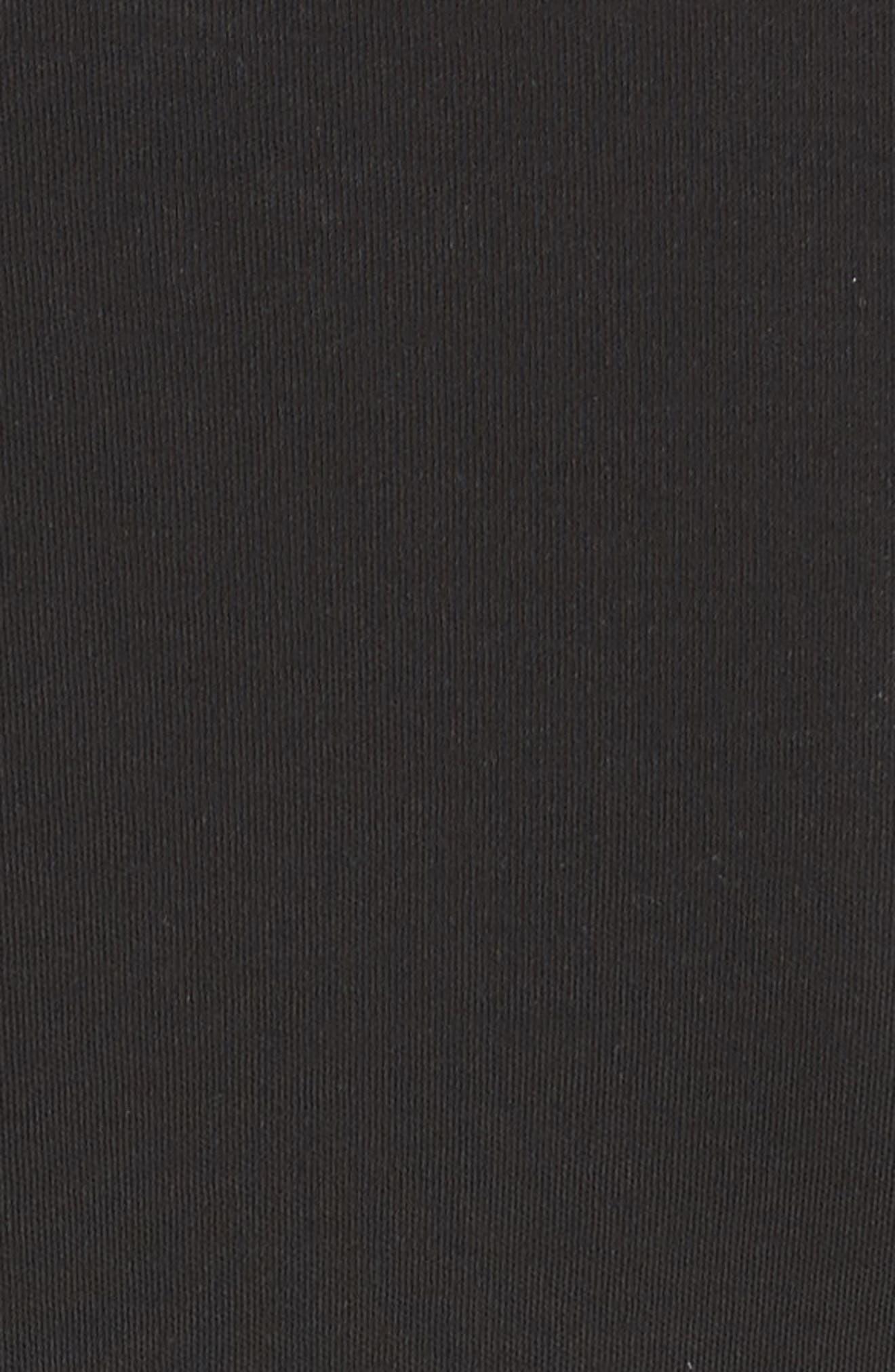 Dorotea K Tie Front Cotton Interlock Dress,                             Alternate thumbnail 5, color,                             001