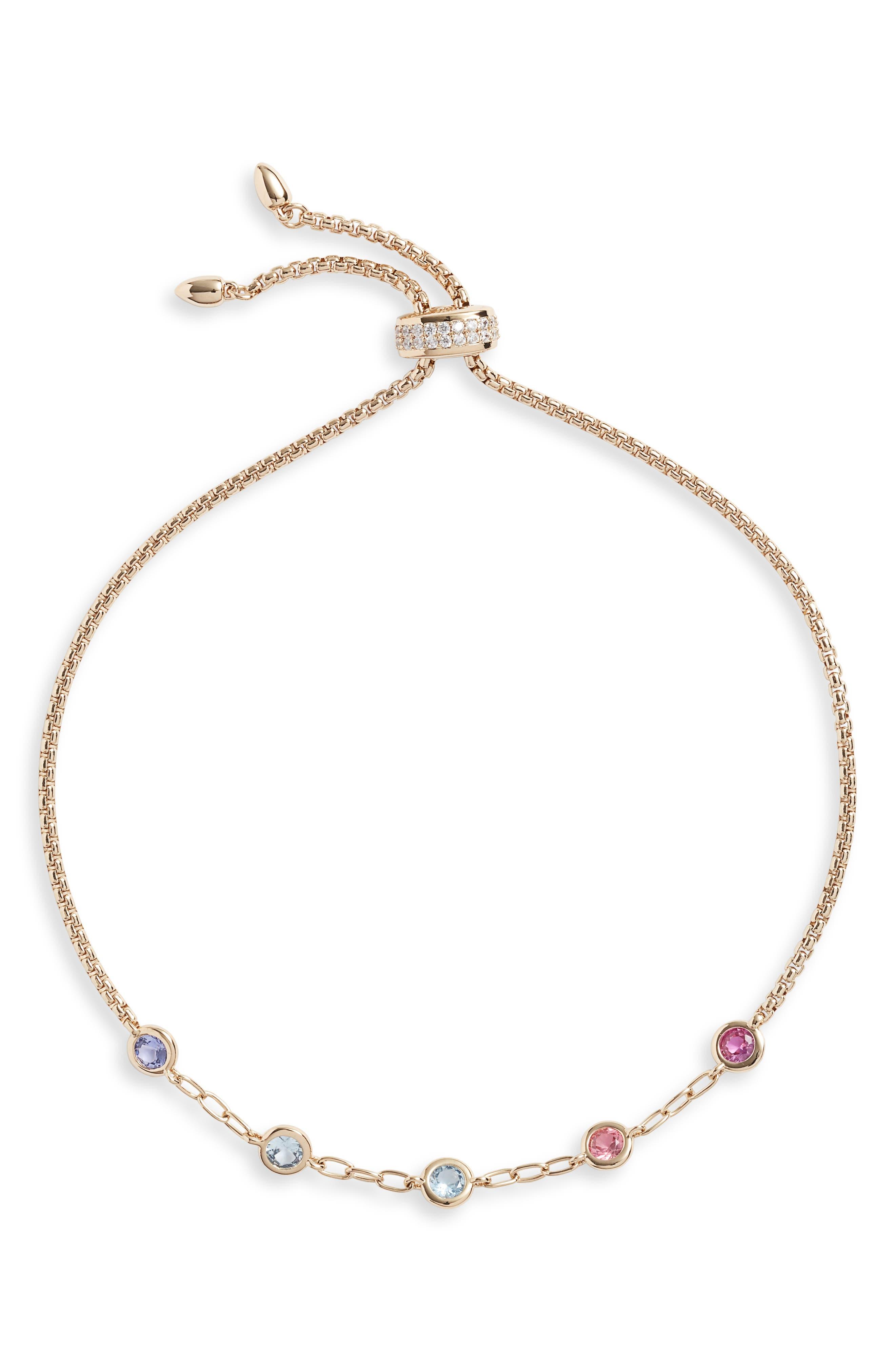 Bloom Adjustable Slider Bracelet, Main, color, GOLD