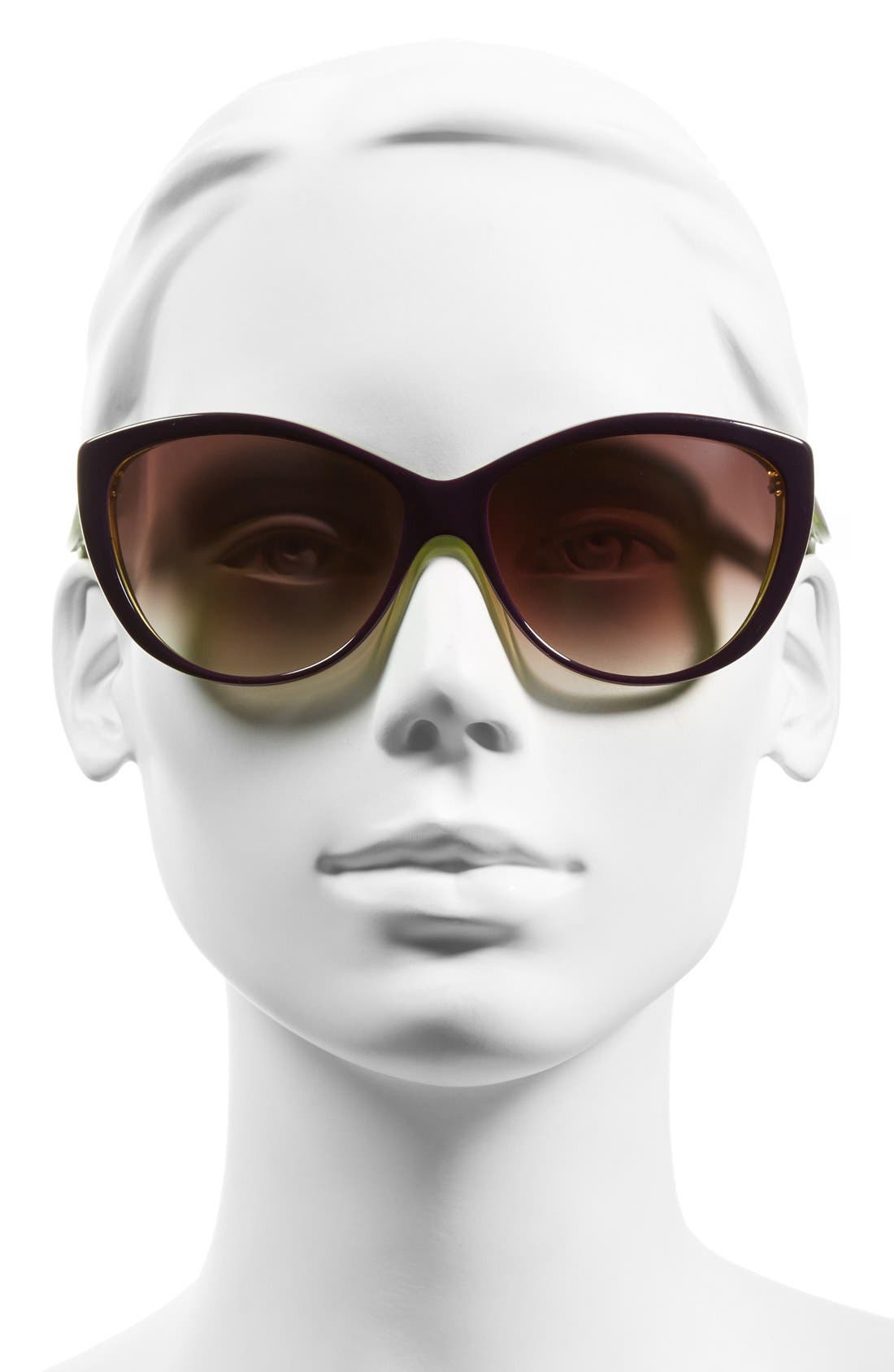 61mm Two-Tone Cat Eye Sunglasses,                             Alternate thumbnail 13, color,