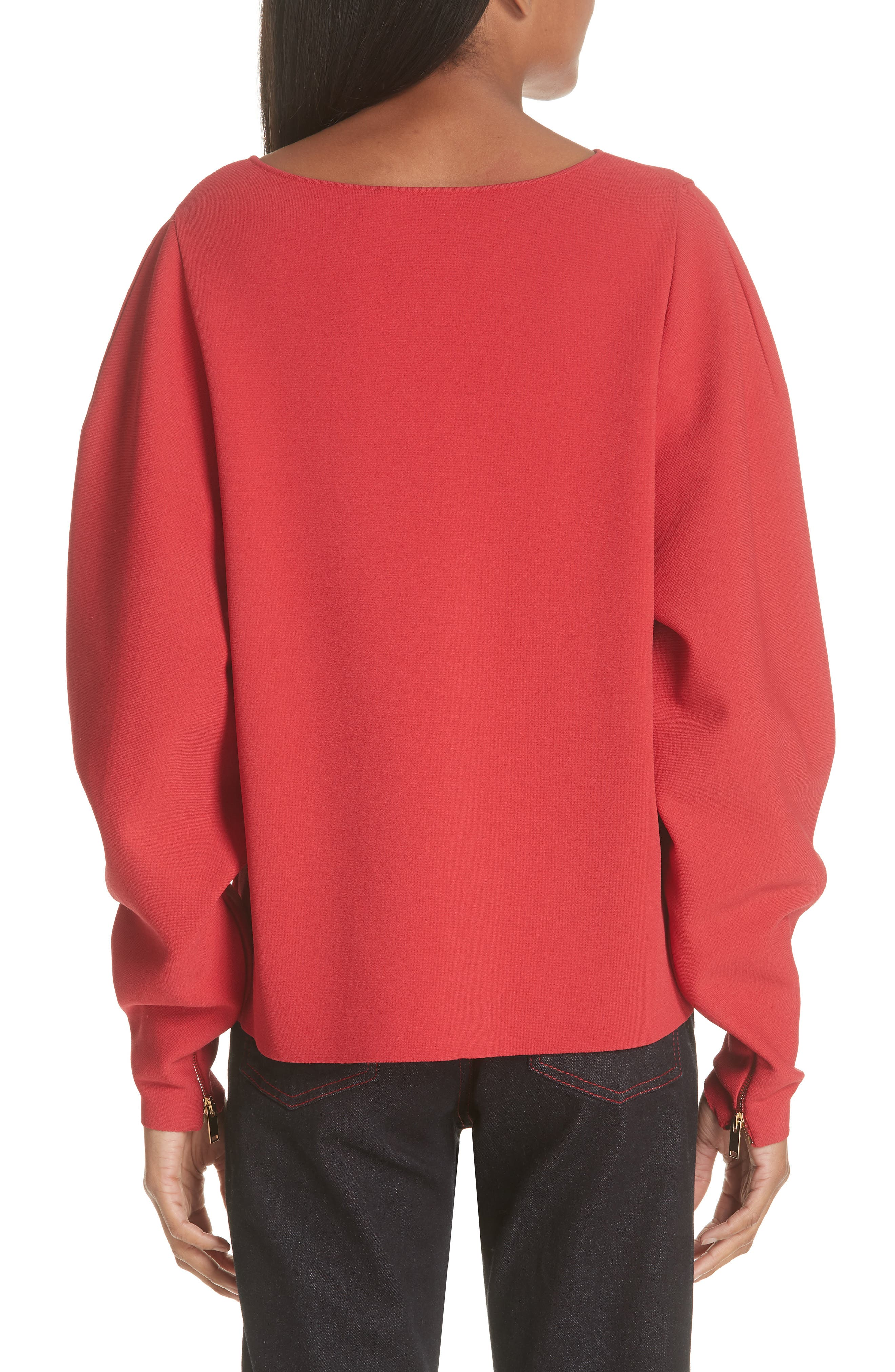 Zip Sleeve Milano Stitch Sweater,                             Alternate thumbnail 2, color,                             627
