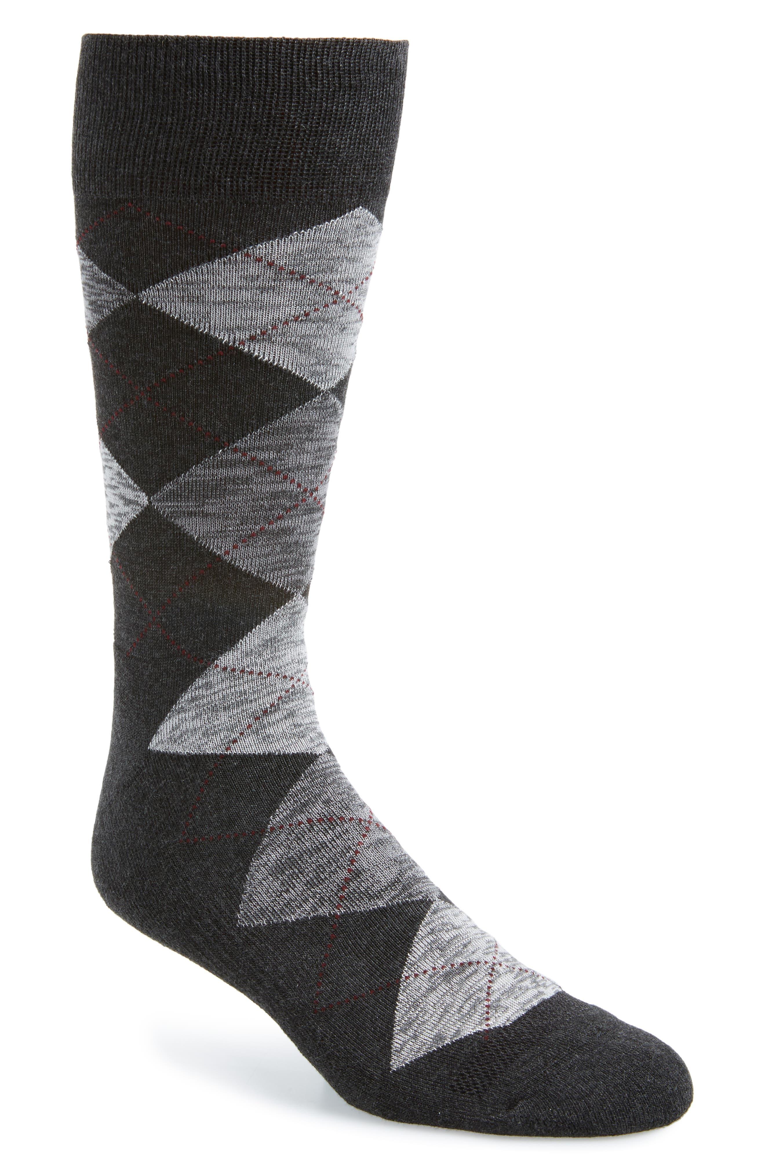 History of Vintage Men's Socks -1900 to 1960s Mens Nordstrom Mens Shop Marled Argyle Socks Size One Size - Grey $12.50 AT vintagedancer.com