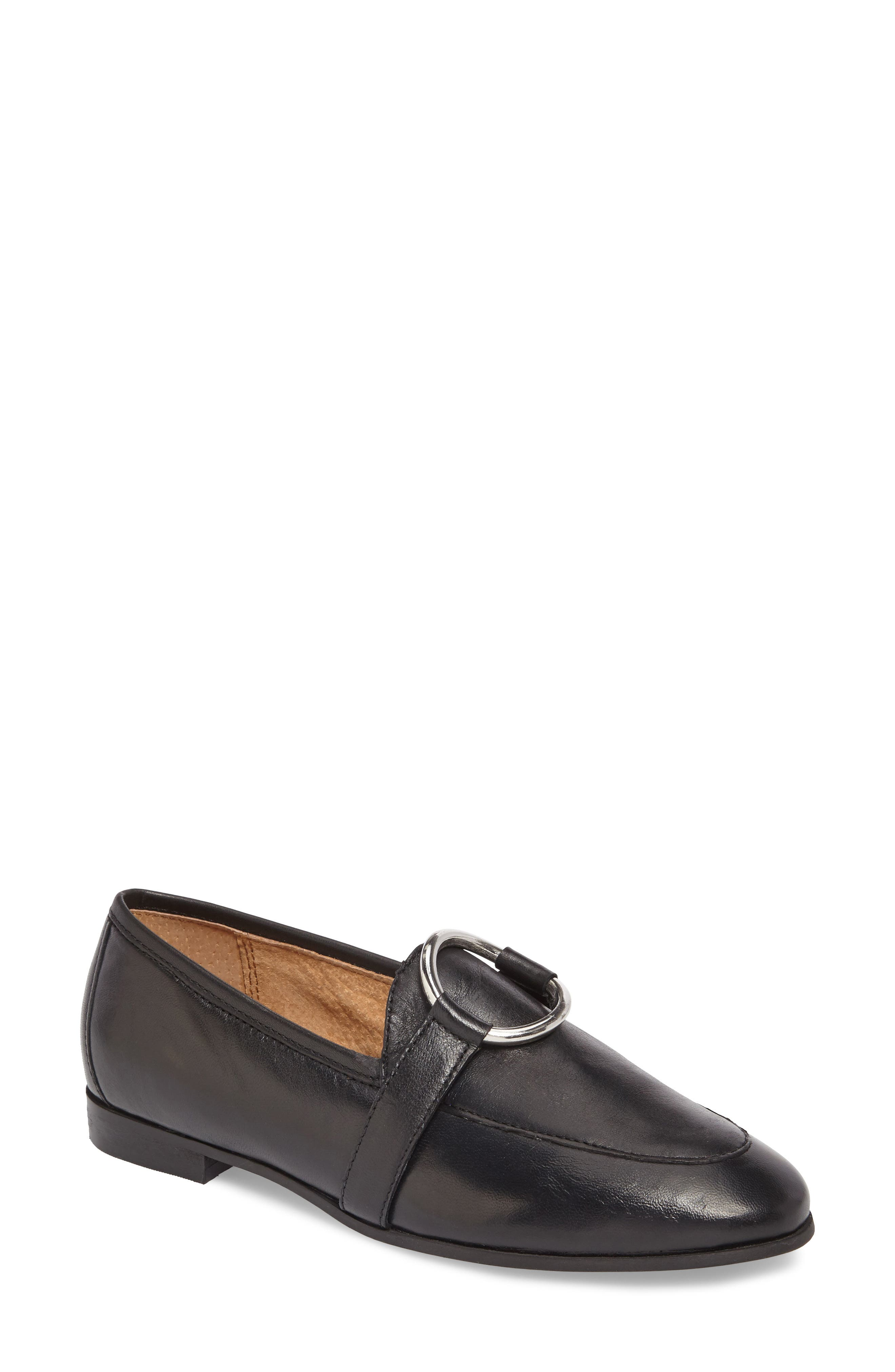 TOPSHOP,                             Kreme Ring Loafer,                             Main thumbnail 1, color,                             001