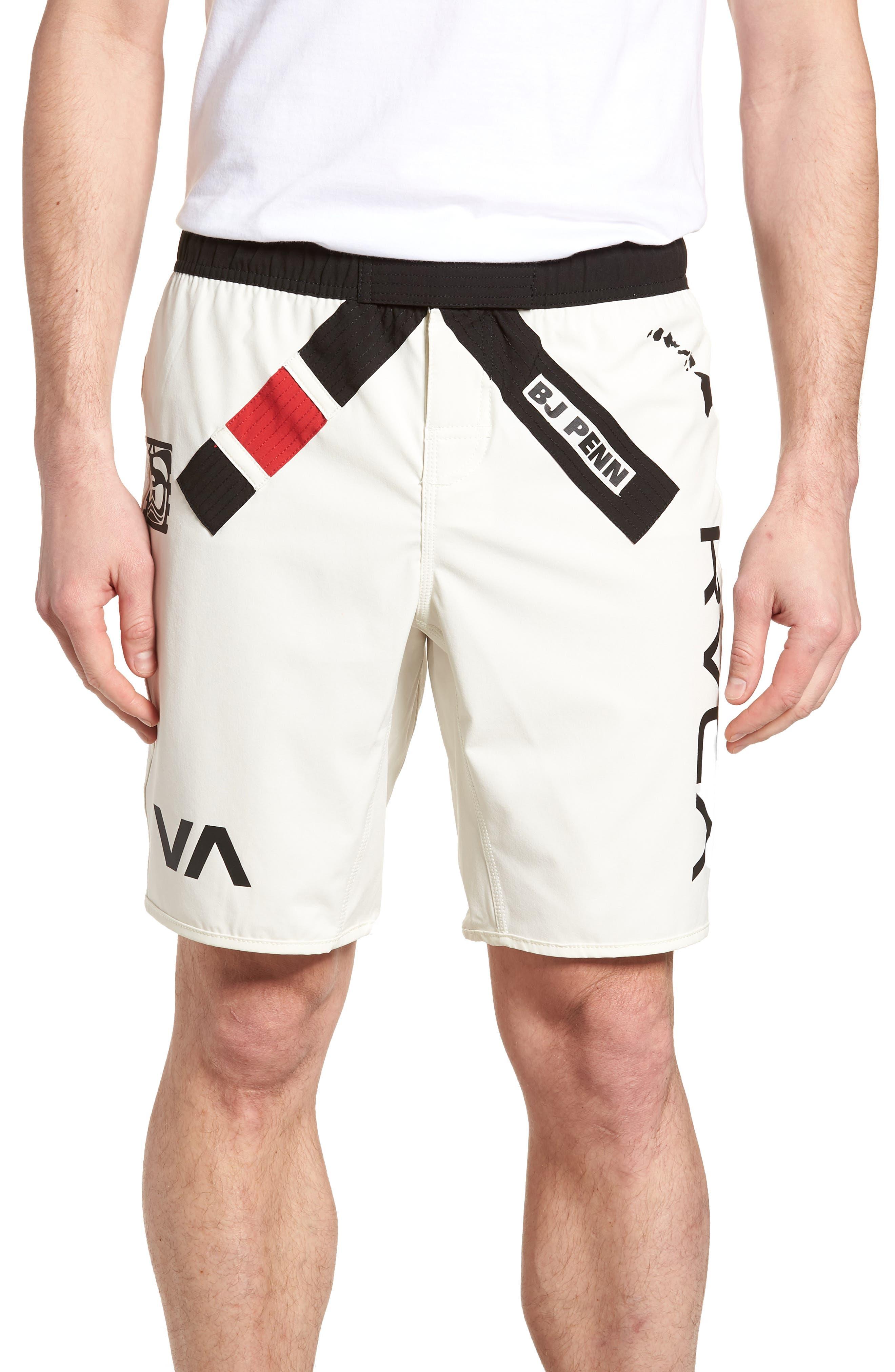 BJ Penn Legend Shorts,                             Main thumbnail 1, color,                             WHITE