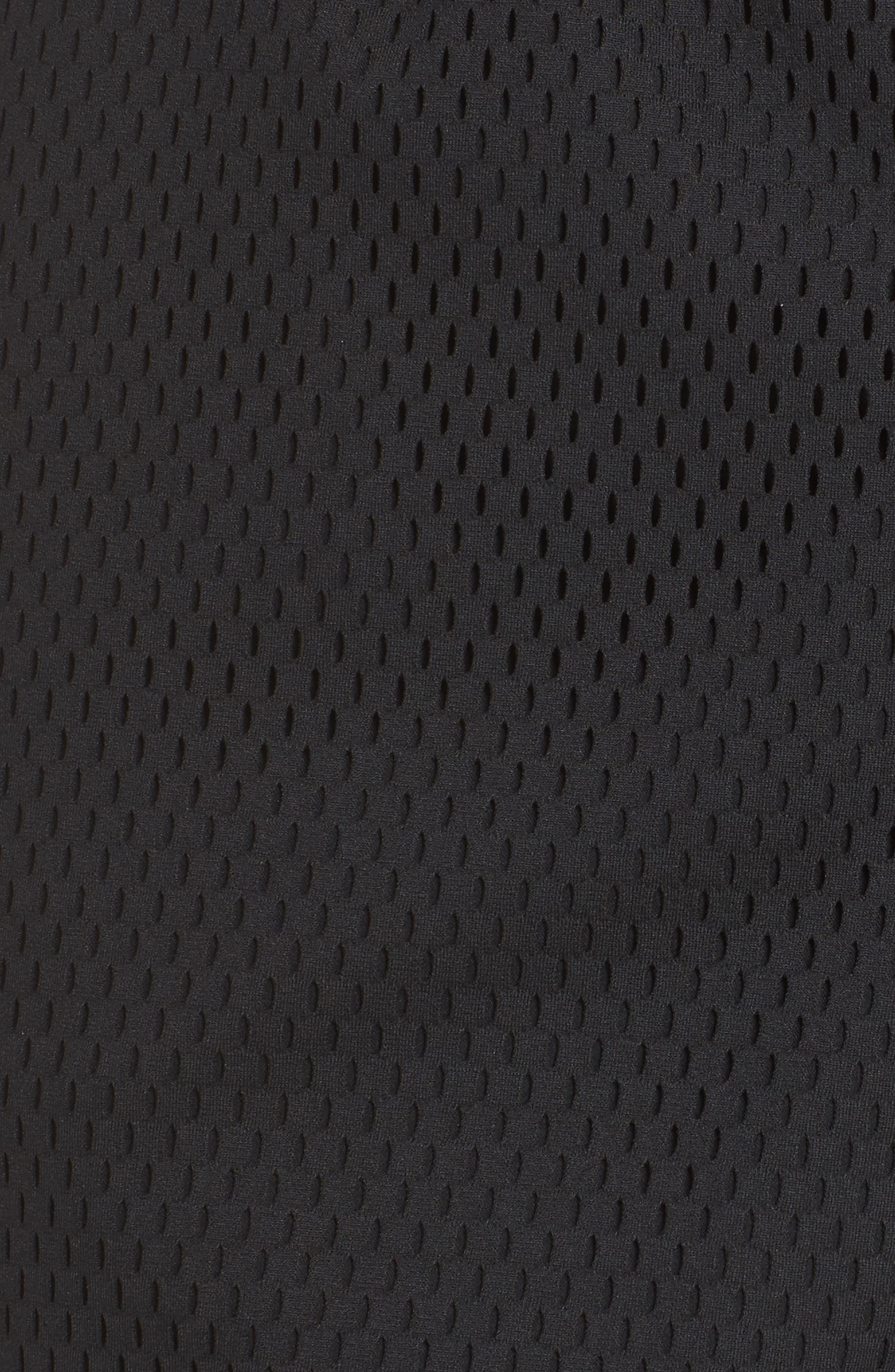 Sportswear Women's Dri-FIT Mesh Shorts,                             Alternate thumbnail 6, color,                             BLACK/ LIGHT BONE