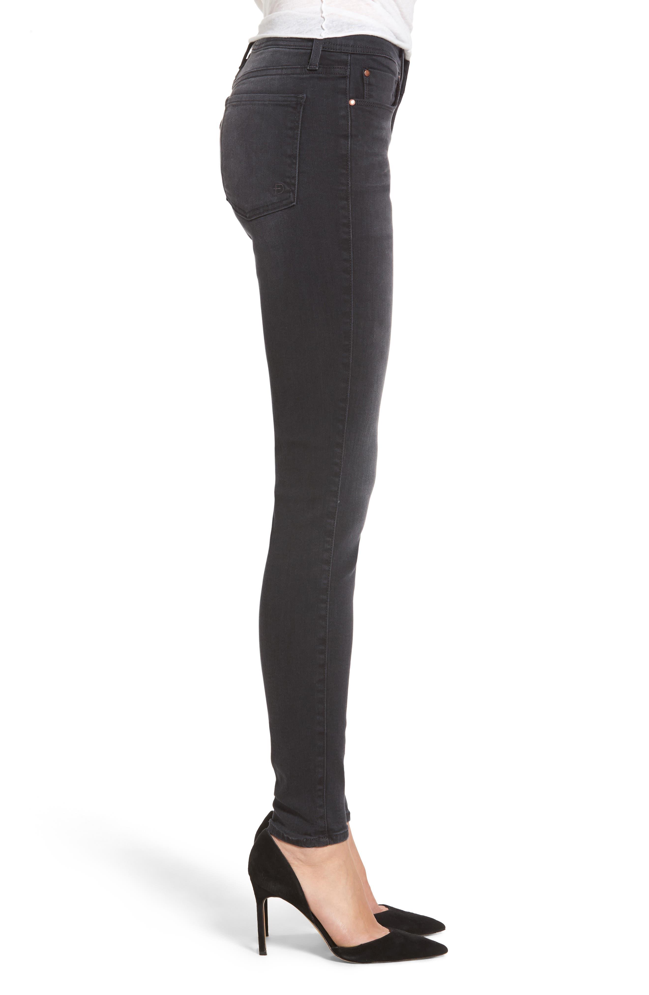 Belvedere Skinny Jeans,                             Alternate thumbnail 3, color,                             001